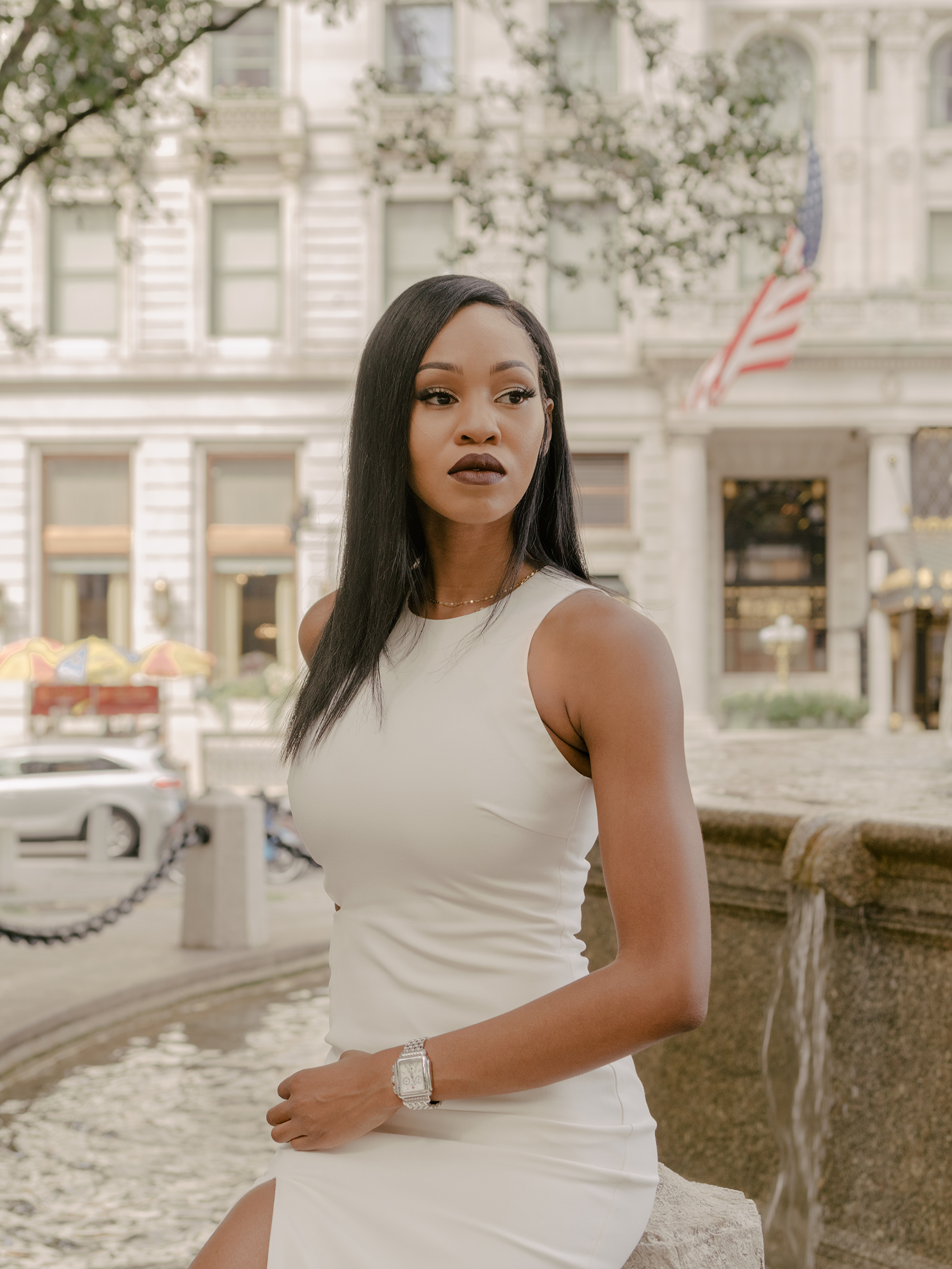 Dana Lewis photographed outside the Plaza Hotel on Sept. 19