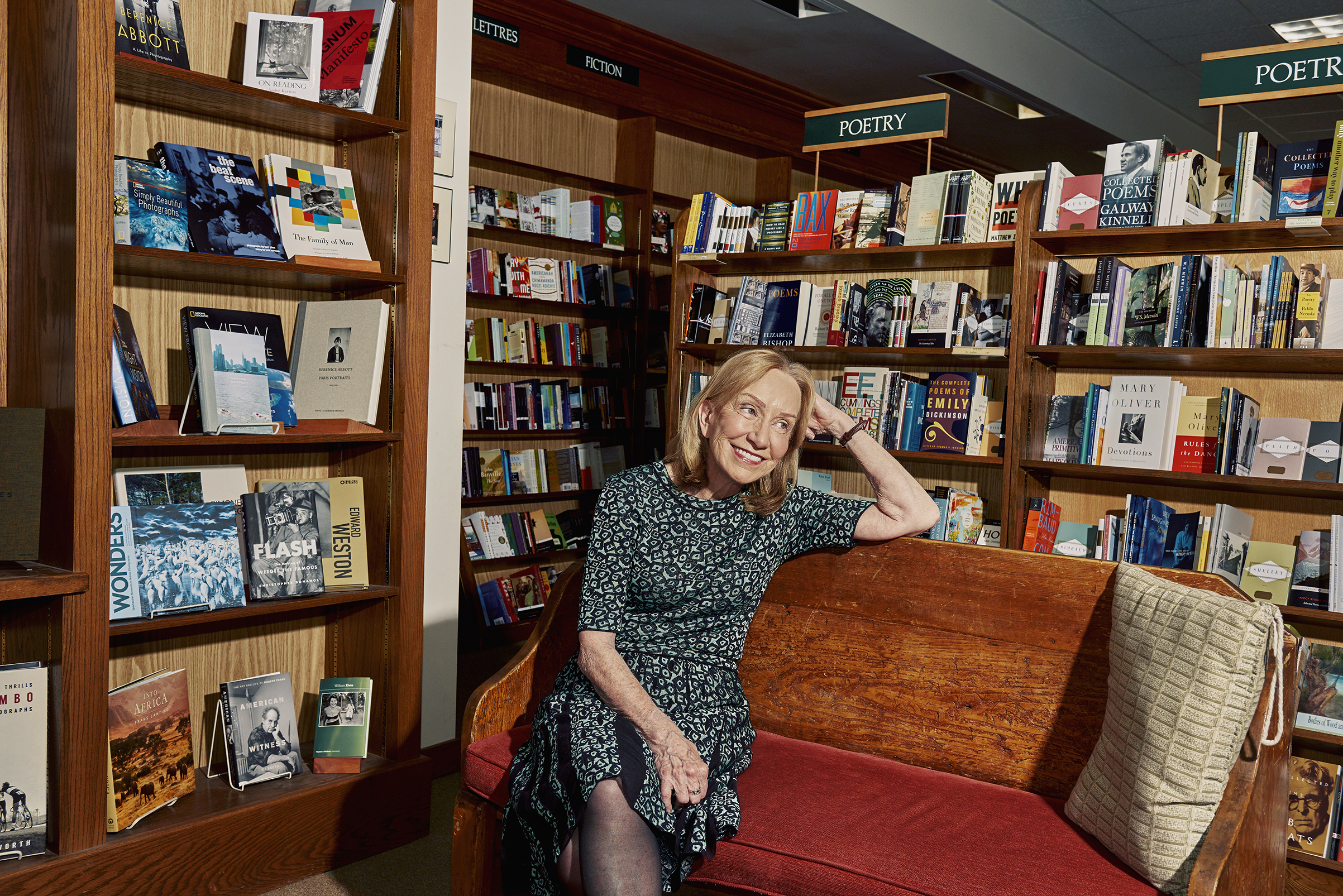 Goodwin at the Concord Bookshop in Concord, Mass. For pleasure reading, she opts for mysteries