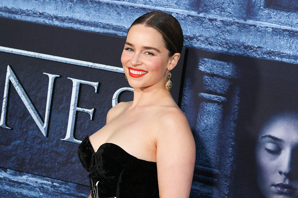 Actress Emilia Clarke arrives at the premiere of HBO's 'Game of Thrones' Season 6 at the TCL Chinese Theatre on April 10, 2016 in Hollywood, California.