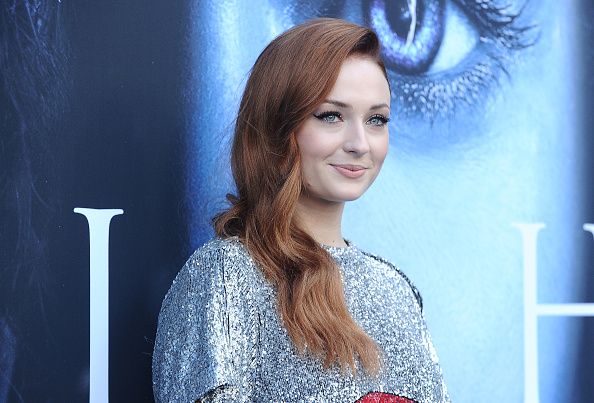 Actress Sophie Turner attends the season 7 premiere of 'Game Of Thrones' at Walt Disney Concert Hall on July 12, 2017 in Los Angeles, California.