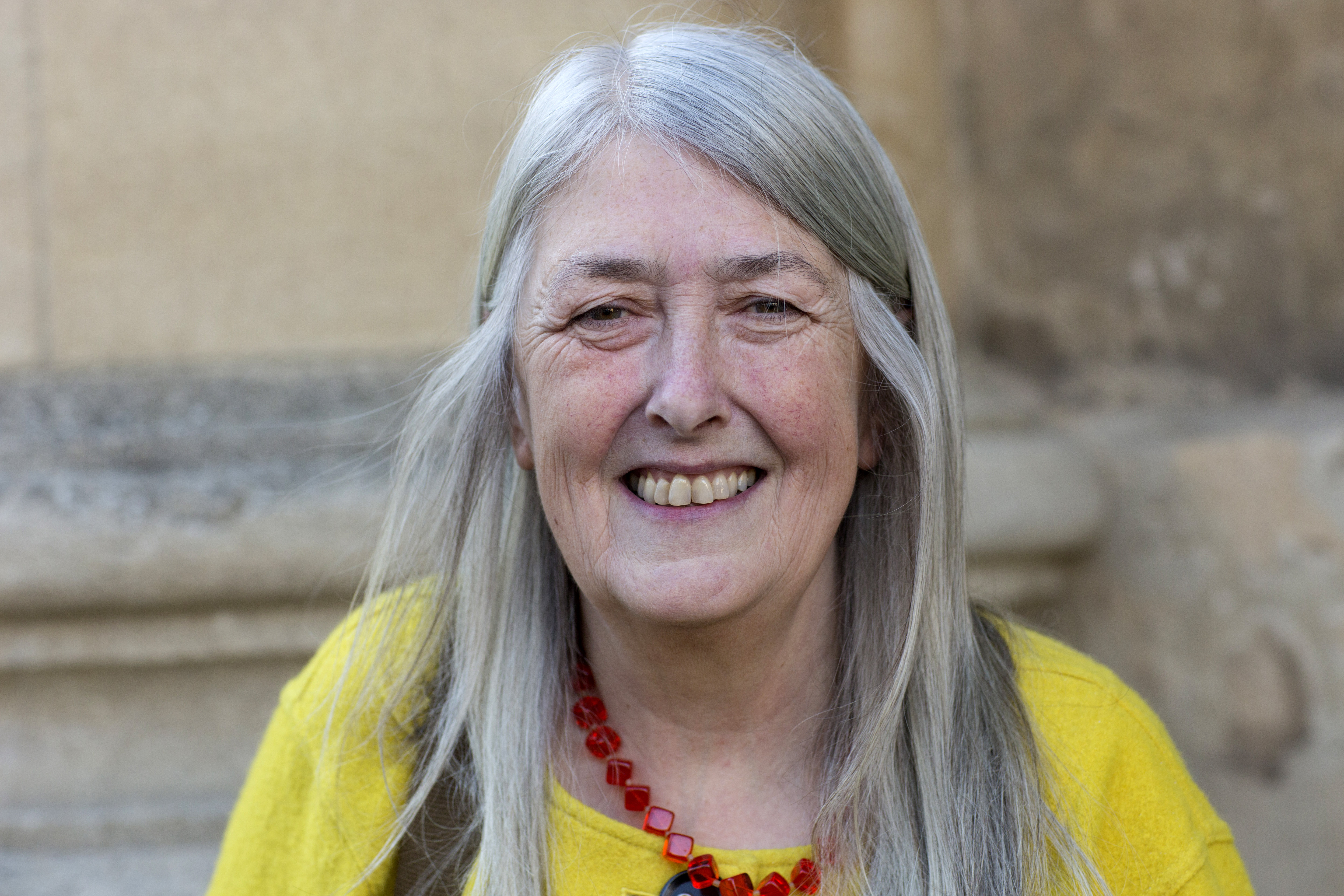 Professor Mary Beard, classicist and writer, at the FT Weekend Oxford Literary Festival on April 5, 2016 in Oxford, England.