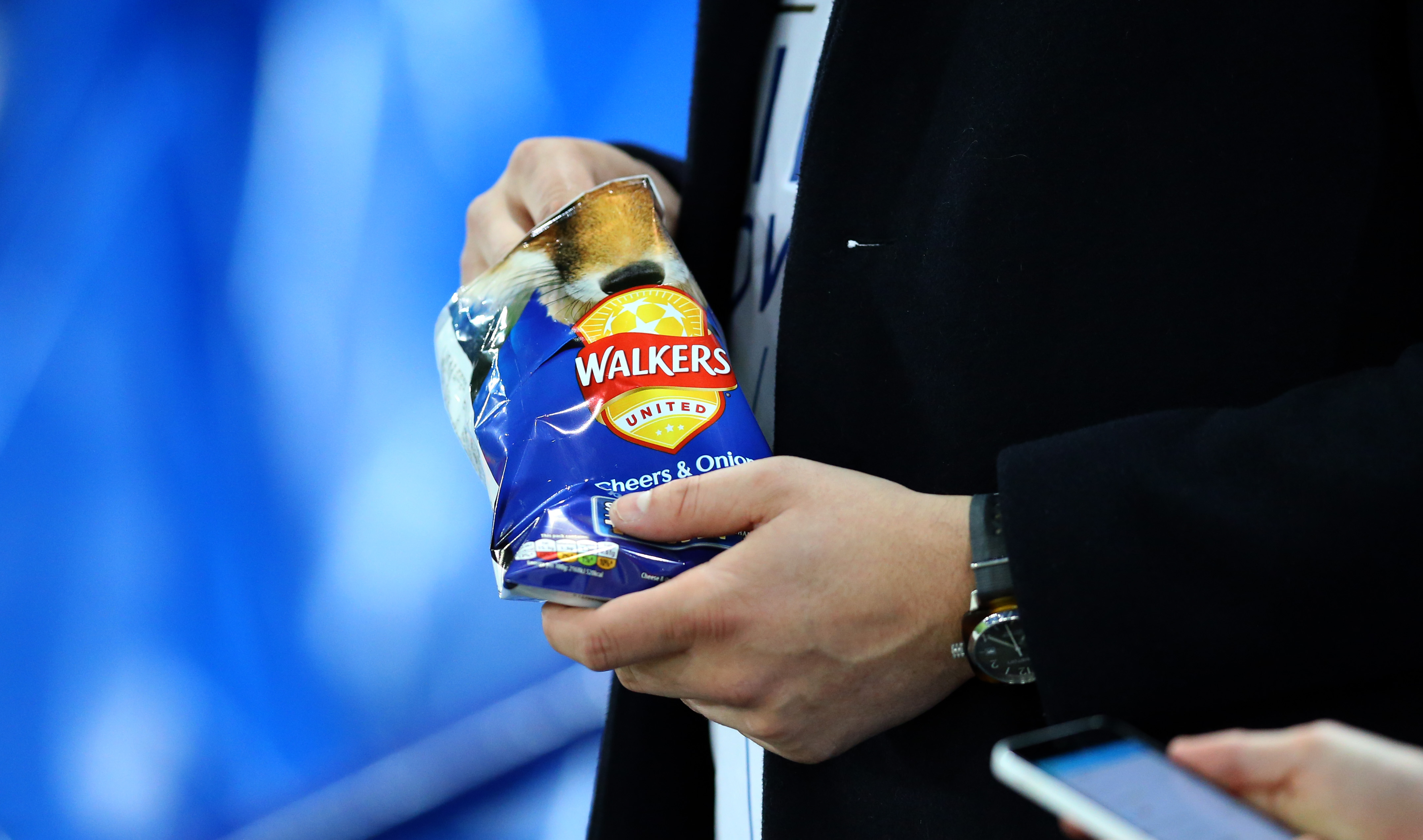 A Walkers packet of Cheers and Onion crisps during the UEFA Champions League Round of 16 second leg match between Leicester City and Sevilla FC at The King Power Stadium on March 14, 2017 in Leicester, United Kingdom.