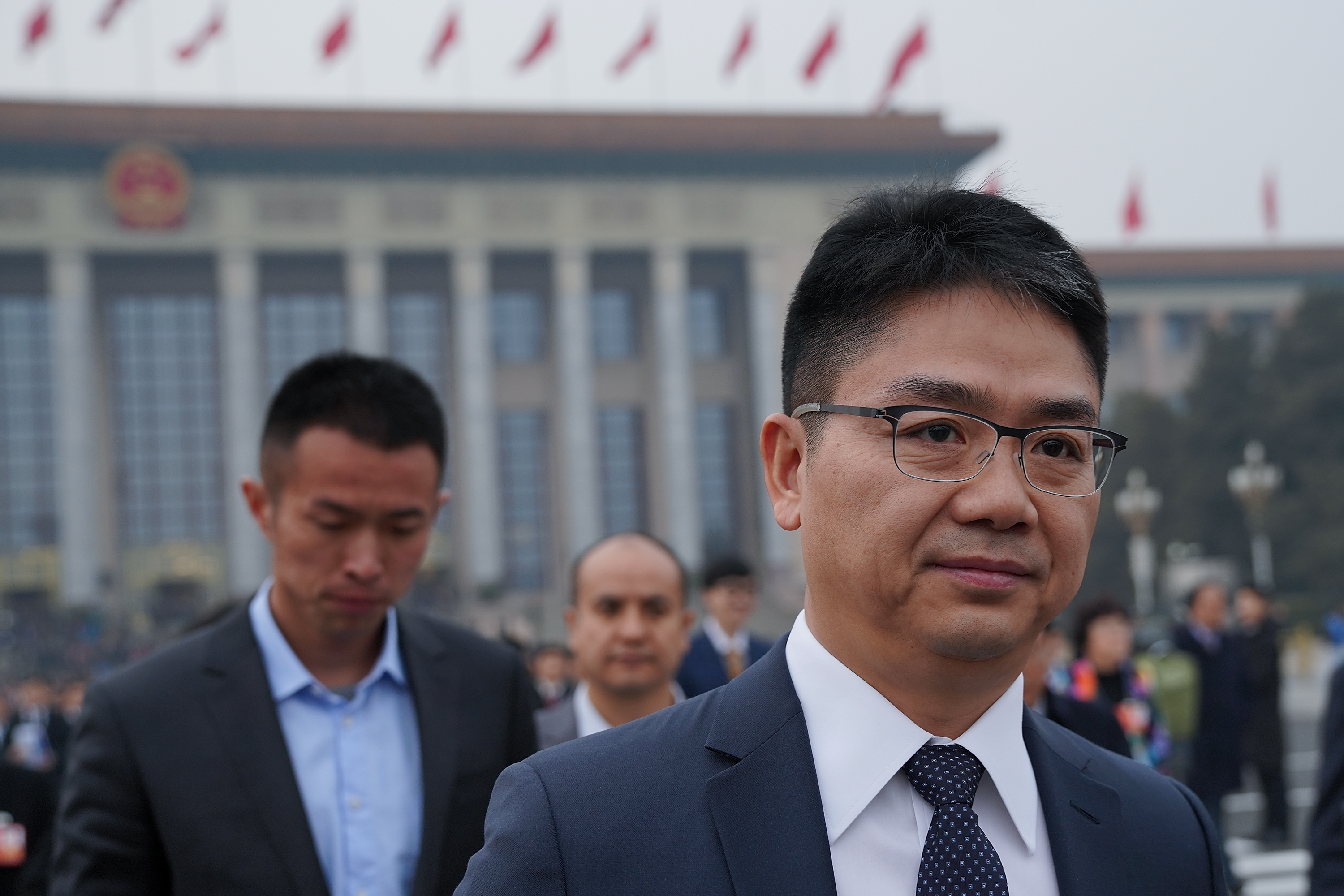CEO of JD.com Richard Liu attends the opening ceremony of the Chinese People's Political Consultative Conference (CPPCC) on March 3, 2018 in Beijing, China.