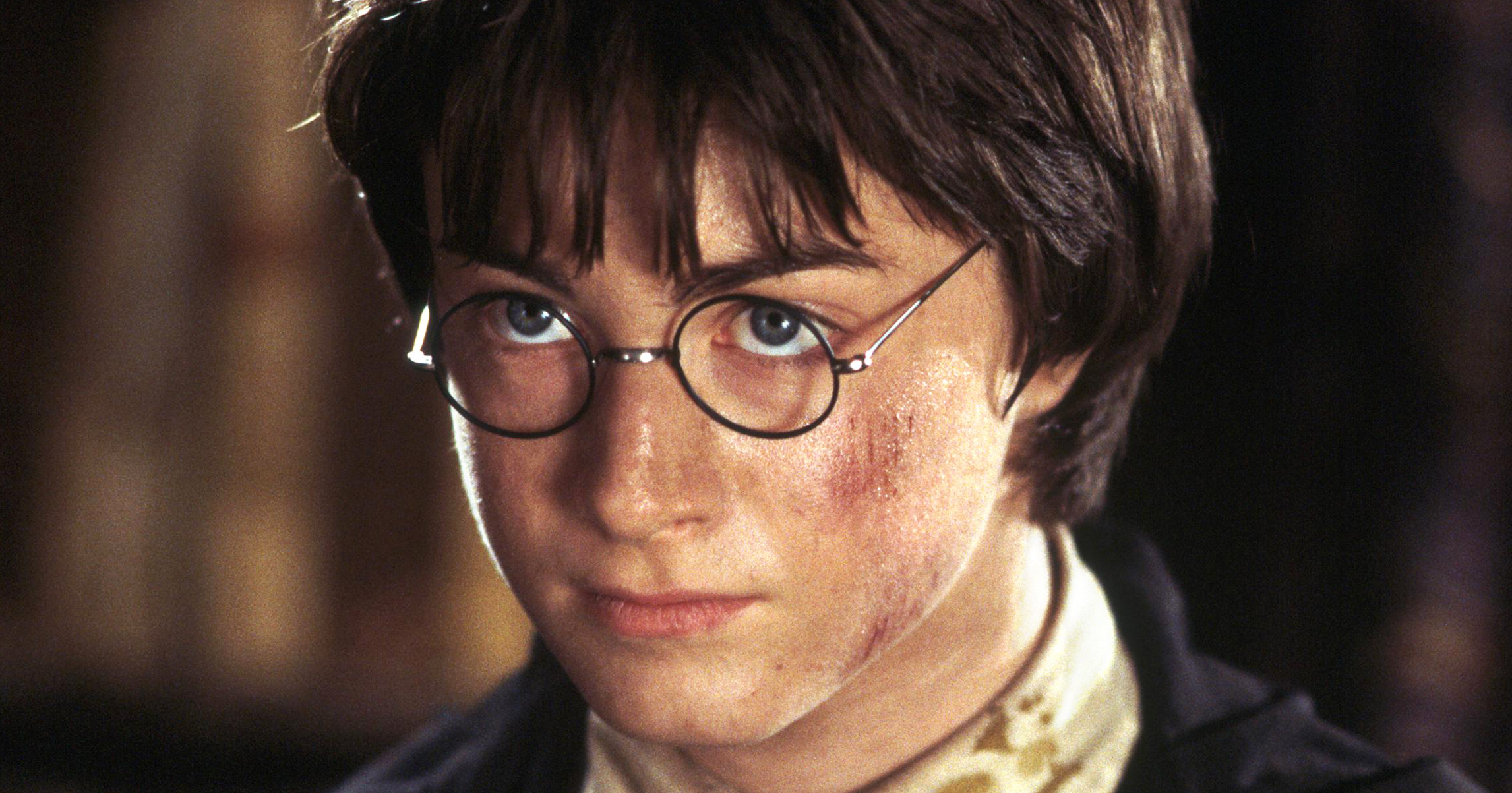 Daniel Radcliffe (Harry Potter) in Warner Bros. Pictures' family adventure film Harry Potter and the Chamber of Secrets.