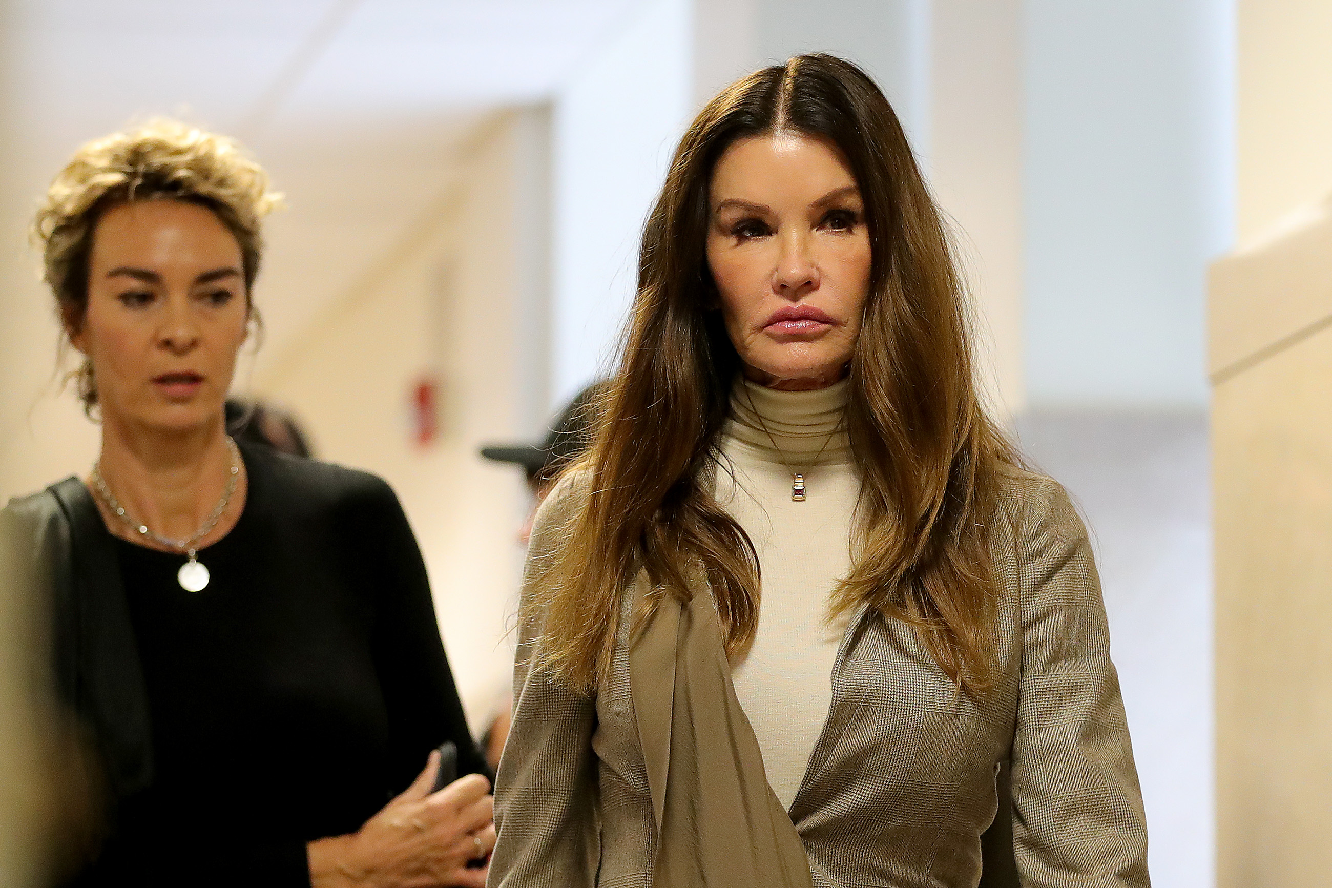 Former model Janice Dickinson arrives at the sentencing hearing for the sexual assault trial of entertainer Bill Cosby at the Montgomery County Courthouse in Norristown, Pennsylvania on September 24, 2018. (Photo by David MAIALETTI / POOL / AFP)