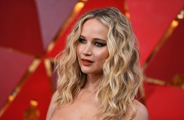 Jennifer Lawrence arrives at the 90th Annual Academy Awards on March 4, 2018, in Hollywood, California.