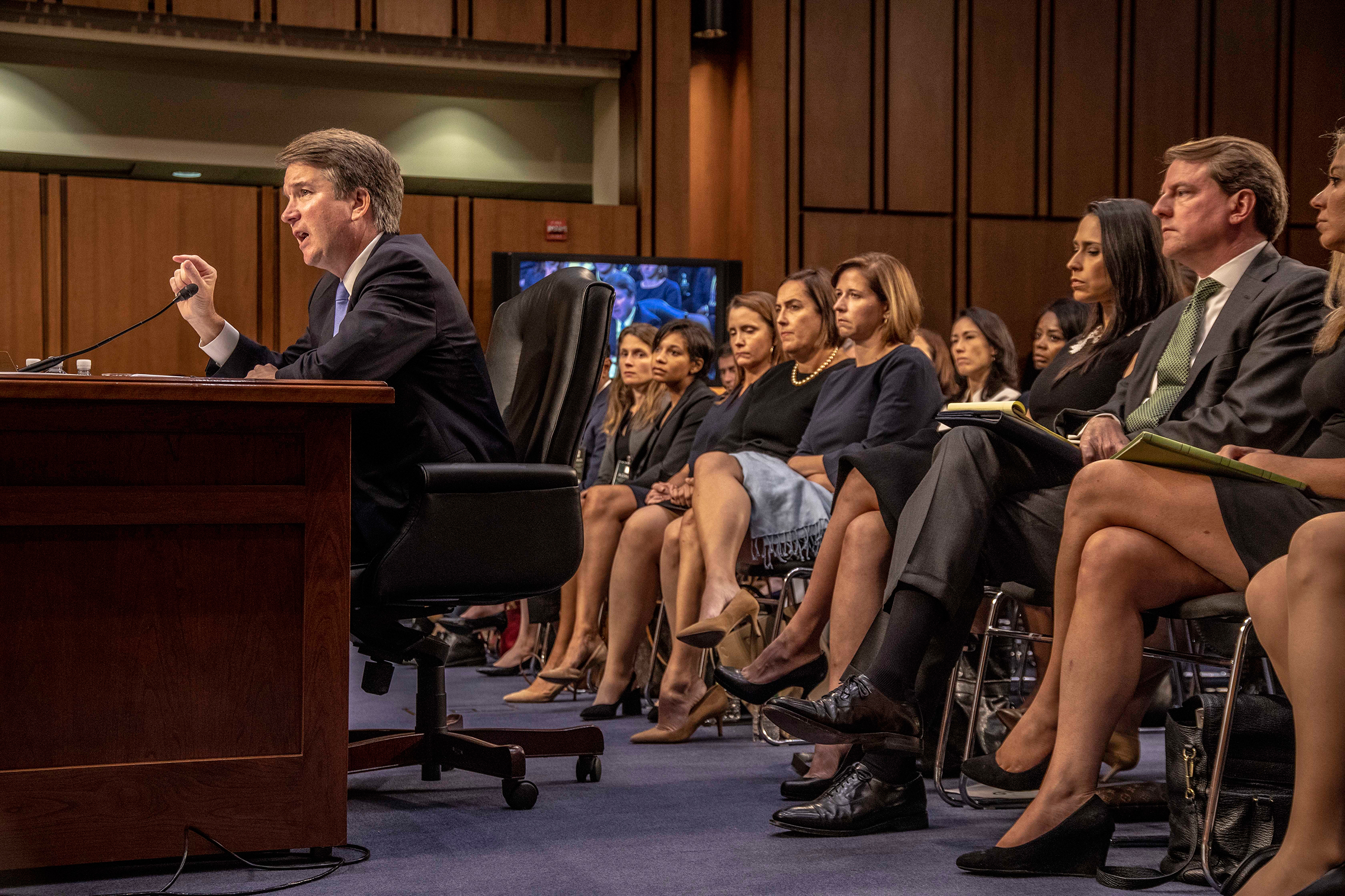 Kavanaugh answers questions from members of the Senate Judiciary Committee during his confirmation hearings.