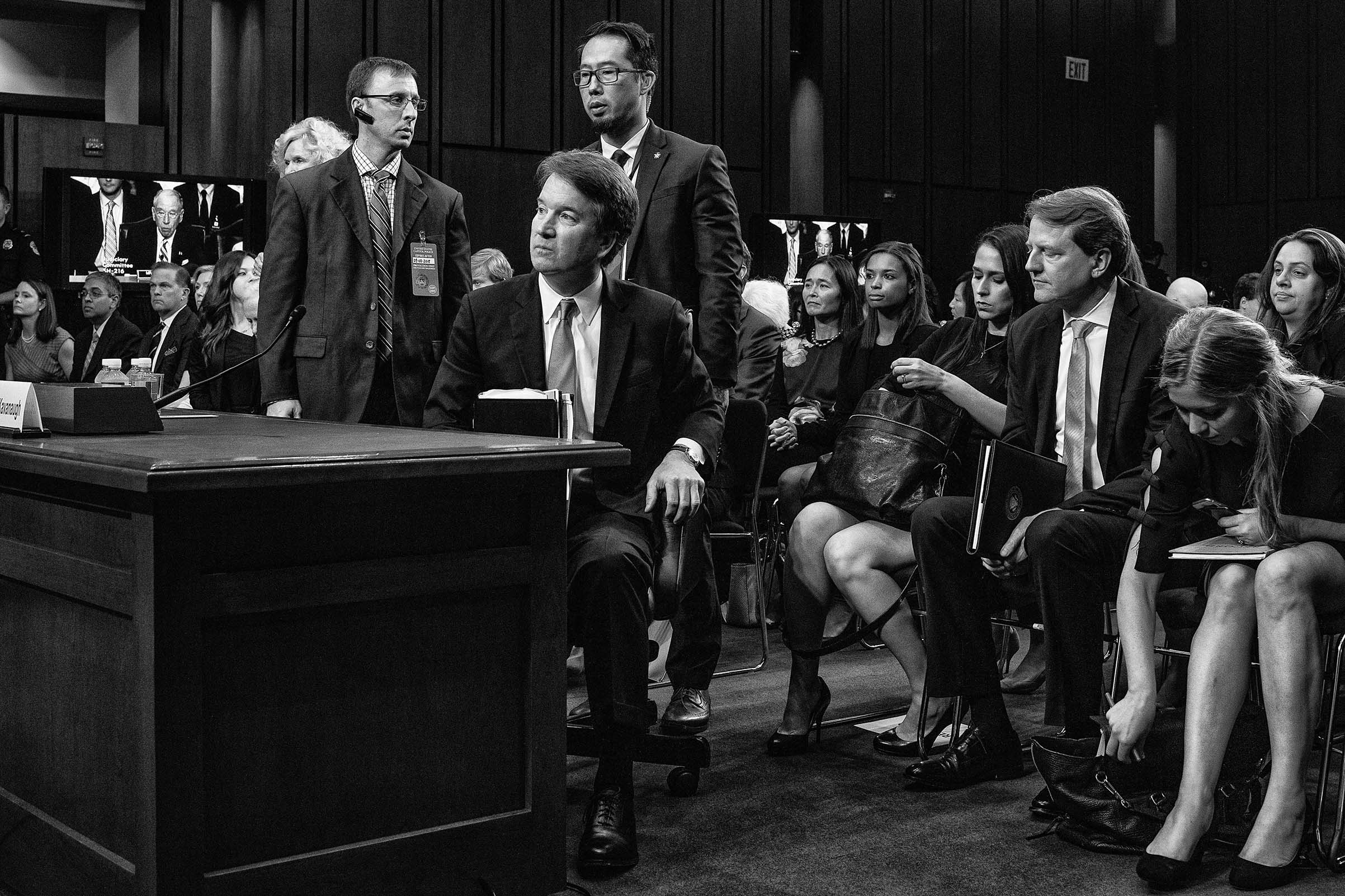 Supreme Court nominee Brett Kavanaugh at his Senate confirmation hearing on Sept. 5