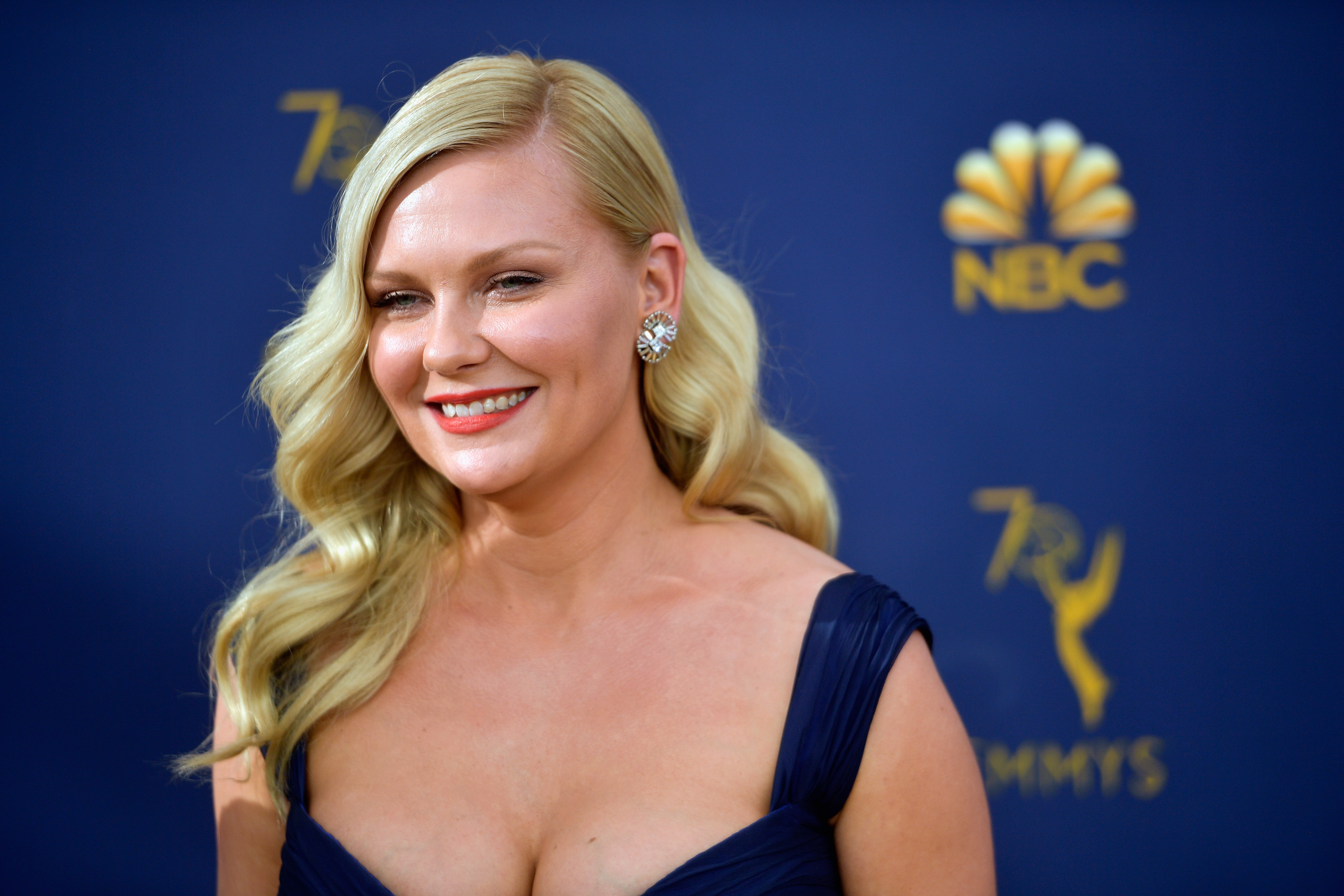 Kirsten Dunst attends the 70th Emmy Awards at Microsoft Theater on September 17, 2018 in Los Angeles, California.
