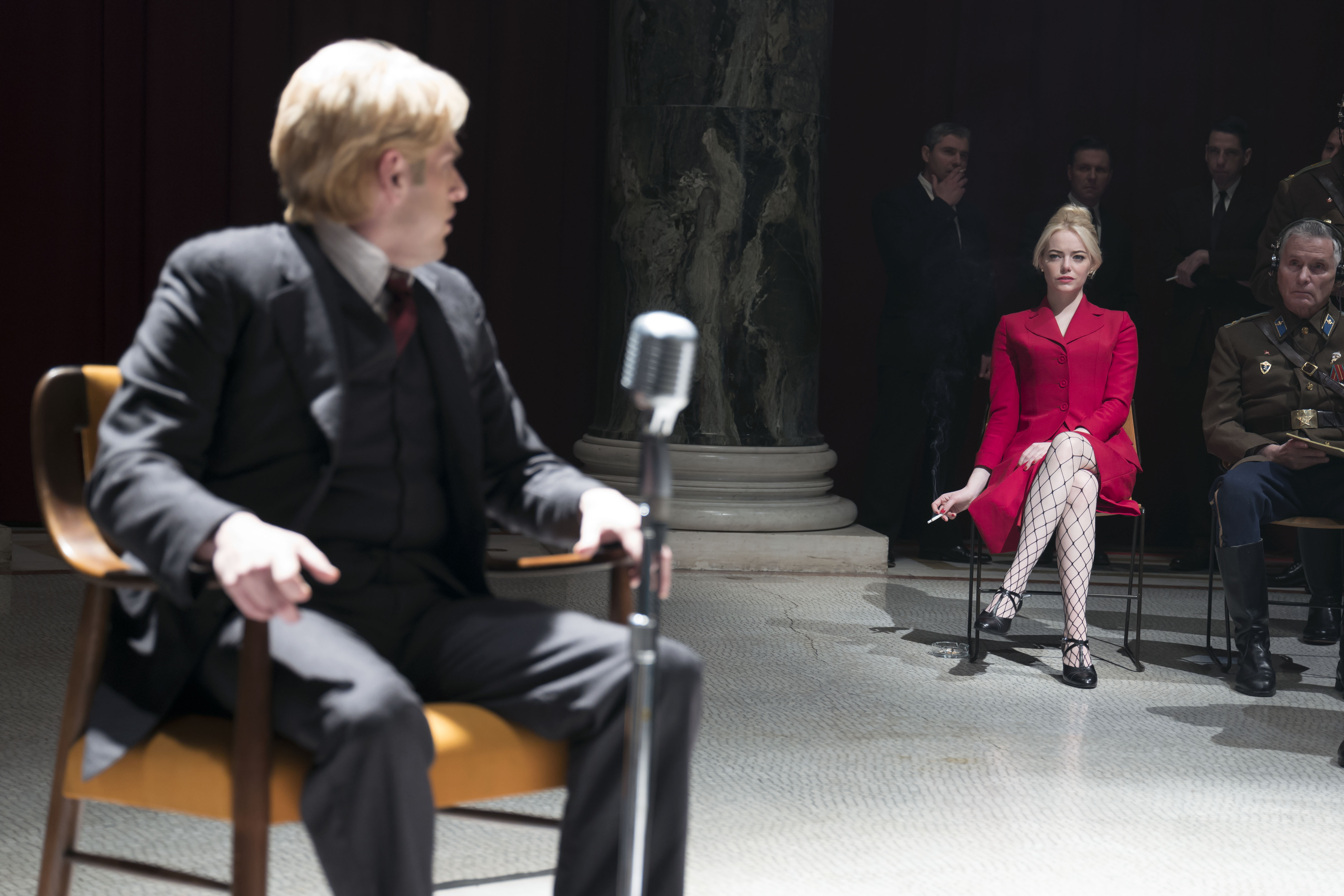 Jonah Hull and Emma Stone in the final delusion on Netflix's Maniac