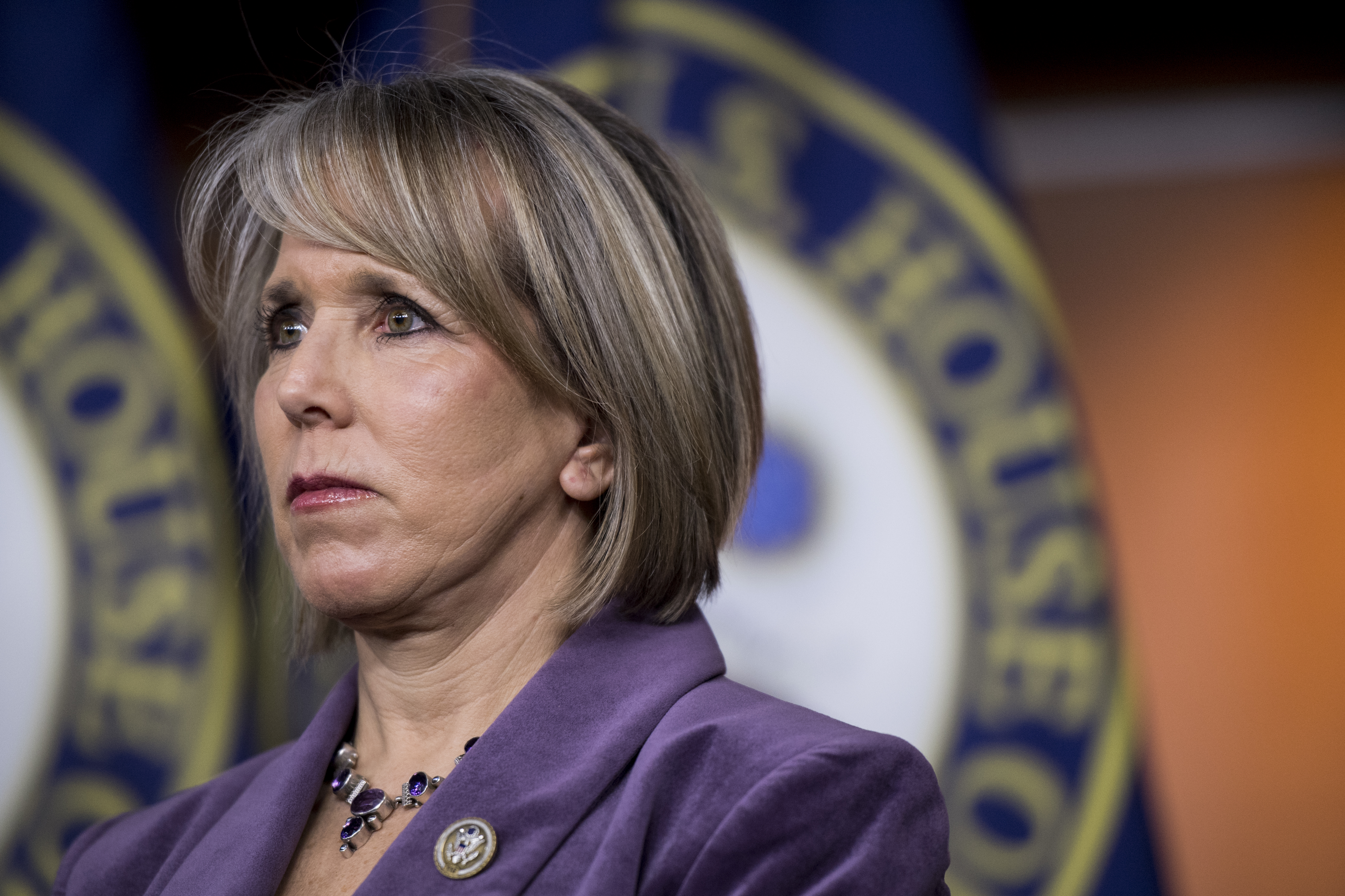 Rep. Michelle Lujan Grisham, D-N.M., at a news conference in the Capitol on Wednesday, Feb. 15, 2017. (Photo By Bill Clark/CQ Roll Call)