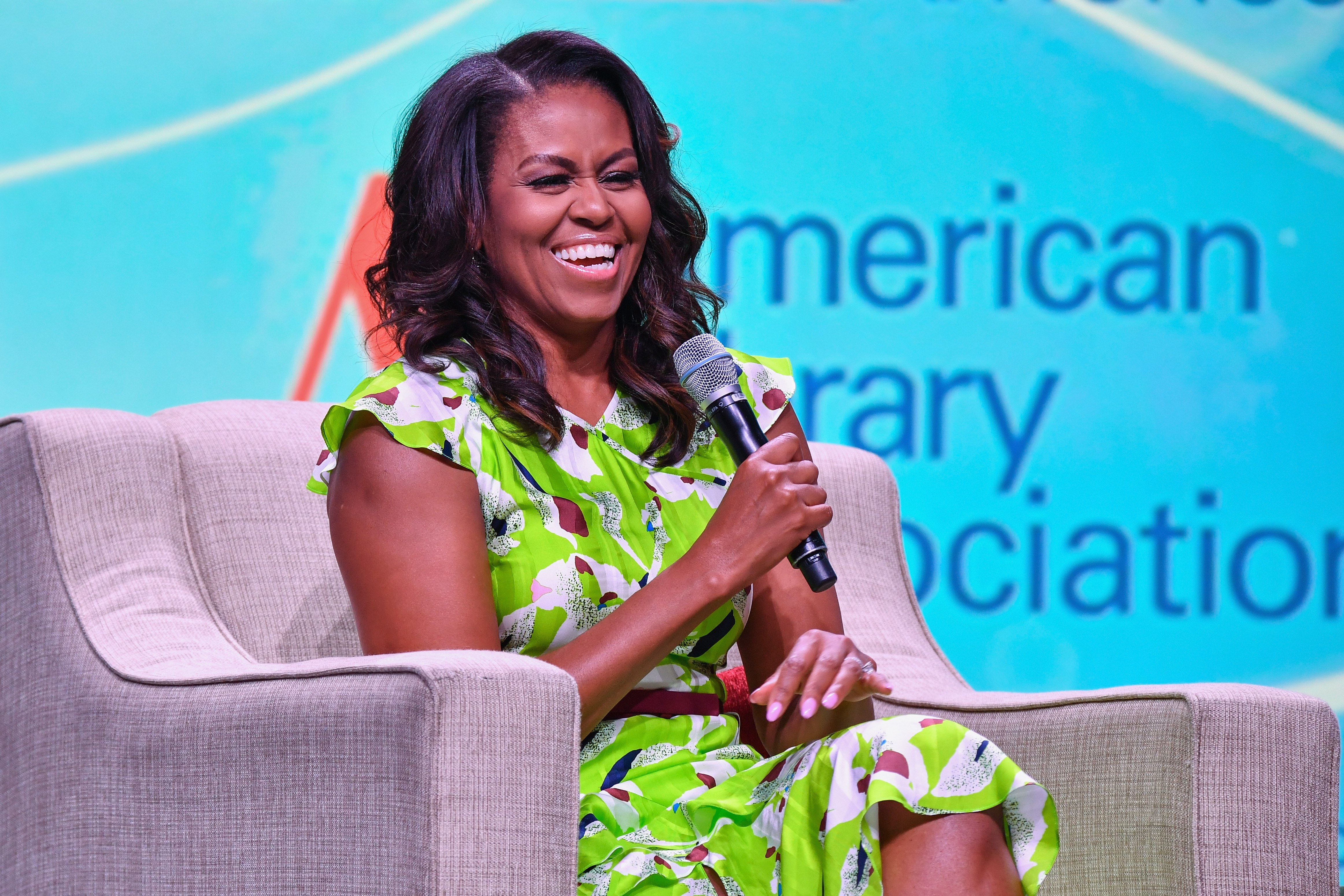 ormer First Lady of the United States Michelle Obama speaks during the Opening General Session of the 2018 American Library Association Annual Conference at Ernest N. Morial Convention Center in New Orleans, Louisiana on June 22, 2018.