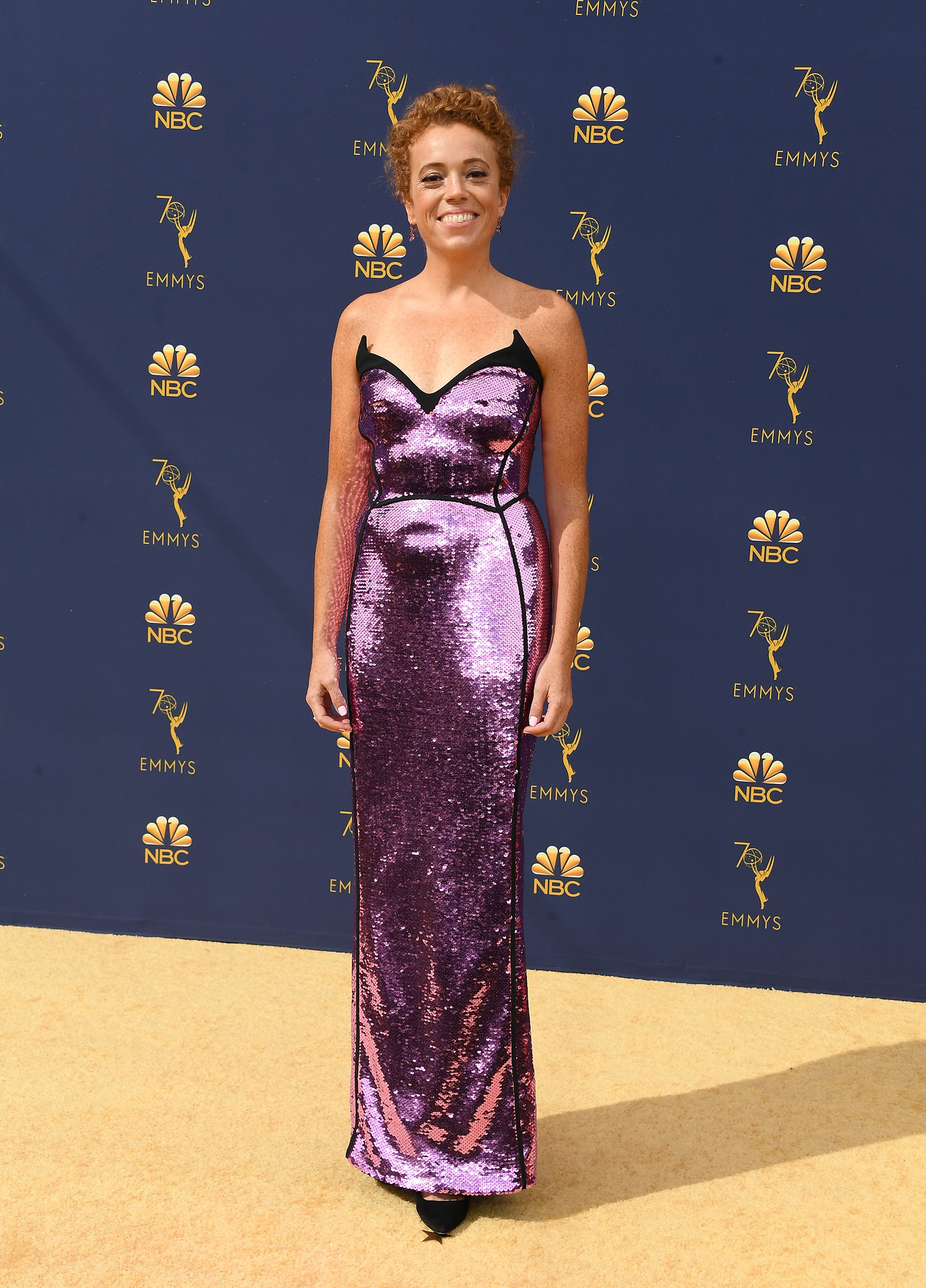 LOS ANGELES, CA - SEPTEMBER 17:  Michelle Wolf attends the 70th Emmy Awards at Microsoft Theater on September 17, 2018 in Los Angeles, California.  (Photo by Steve Granitz/WireImage,)