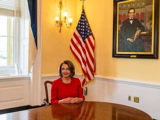 Pelosi in Capitol in February