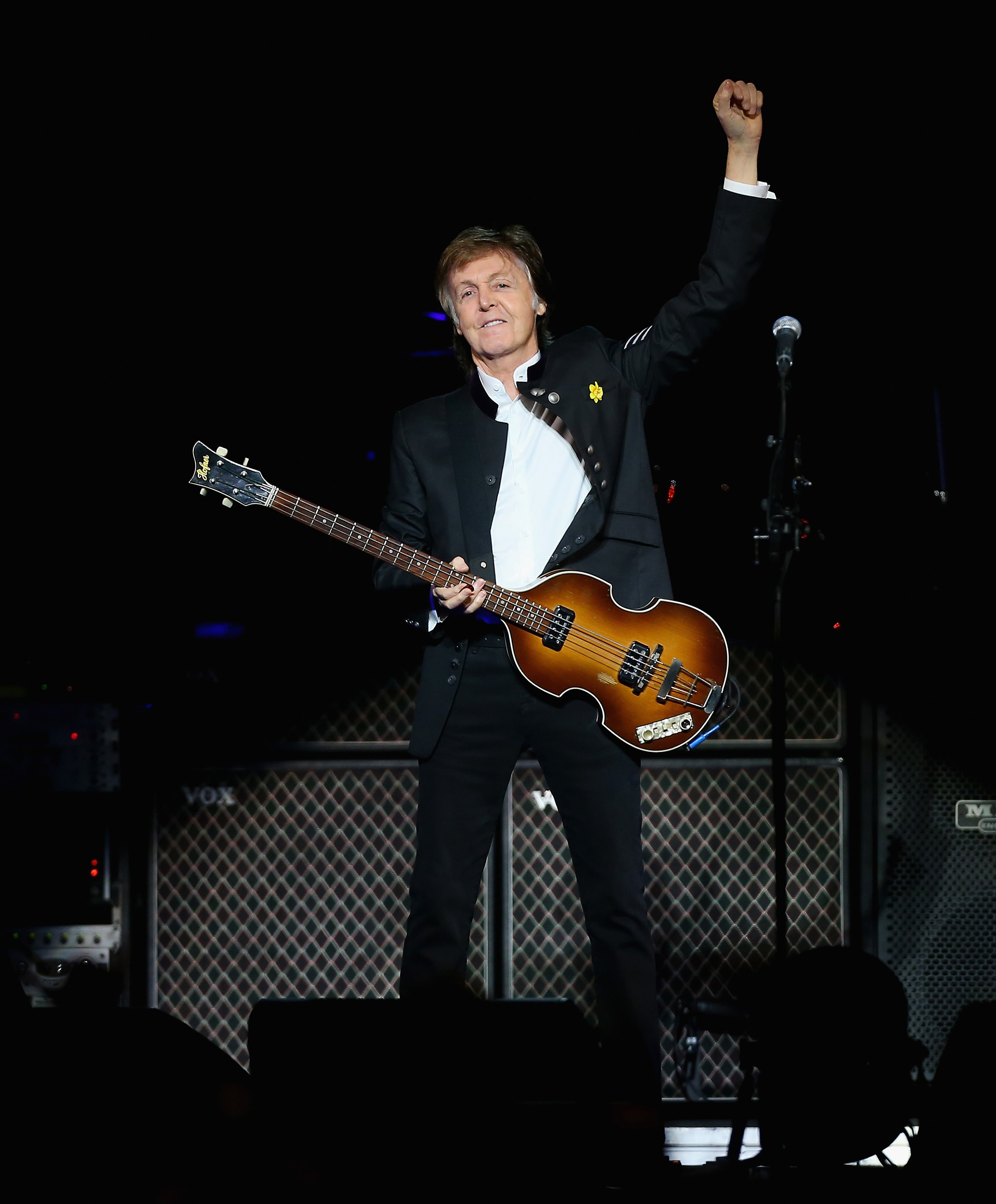SYDNEY, AUSTRALIA - DECEMBER 11:  Paul McCartney performs at Qudos Bank Arena on December 11, 2017 in Sydney, Australia.  (Photo by Don Arnold/WireImage)