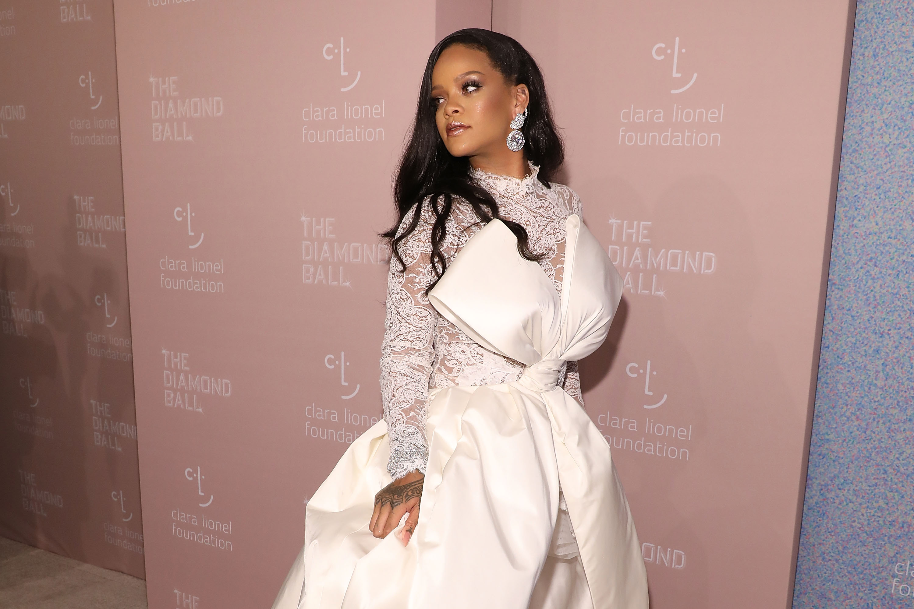 Rihanna attends the 2018 Diamond Ball at Cipriani Wall Street on September 13, 2018 in New York City.