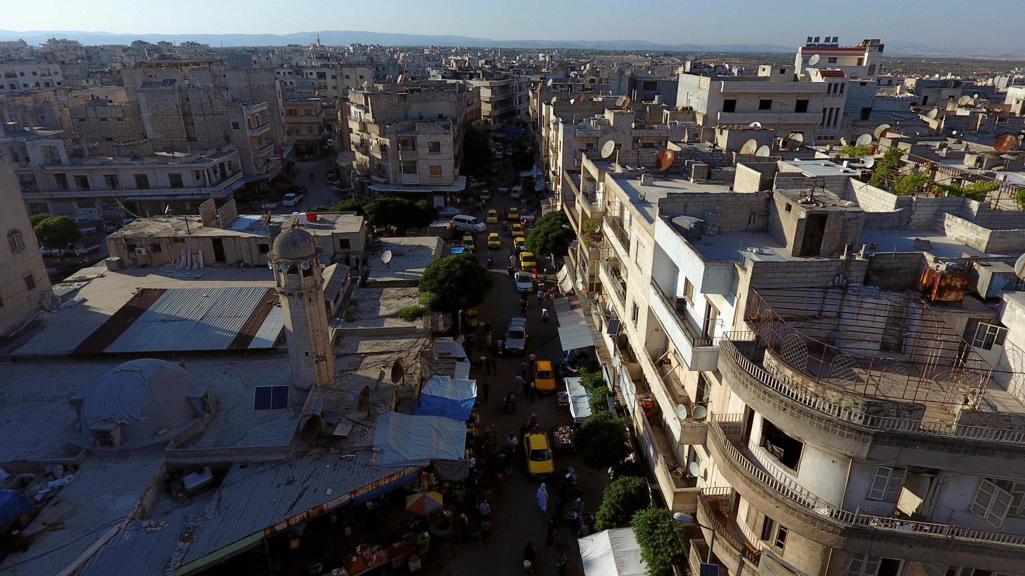 The rebel-held city of Idlib, Syria, seen on June 8, 2017.