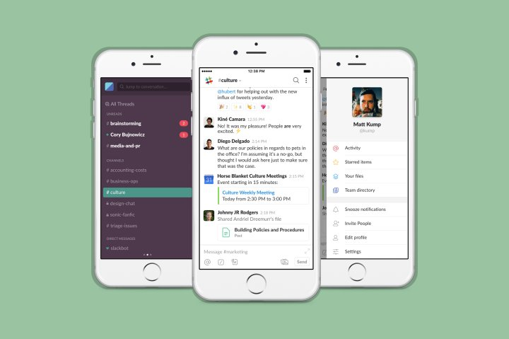 slack chatroom cellphone