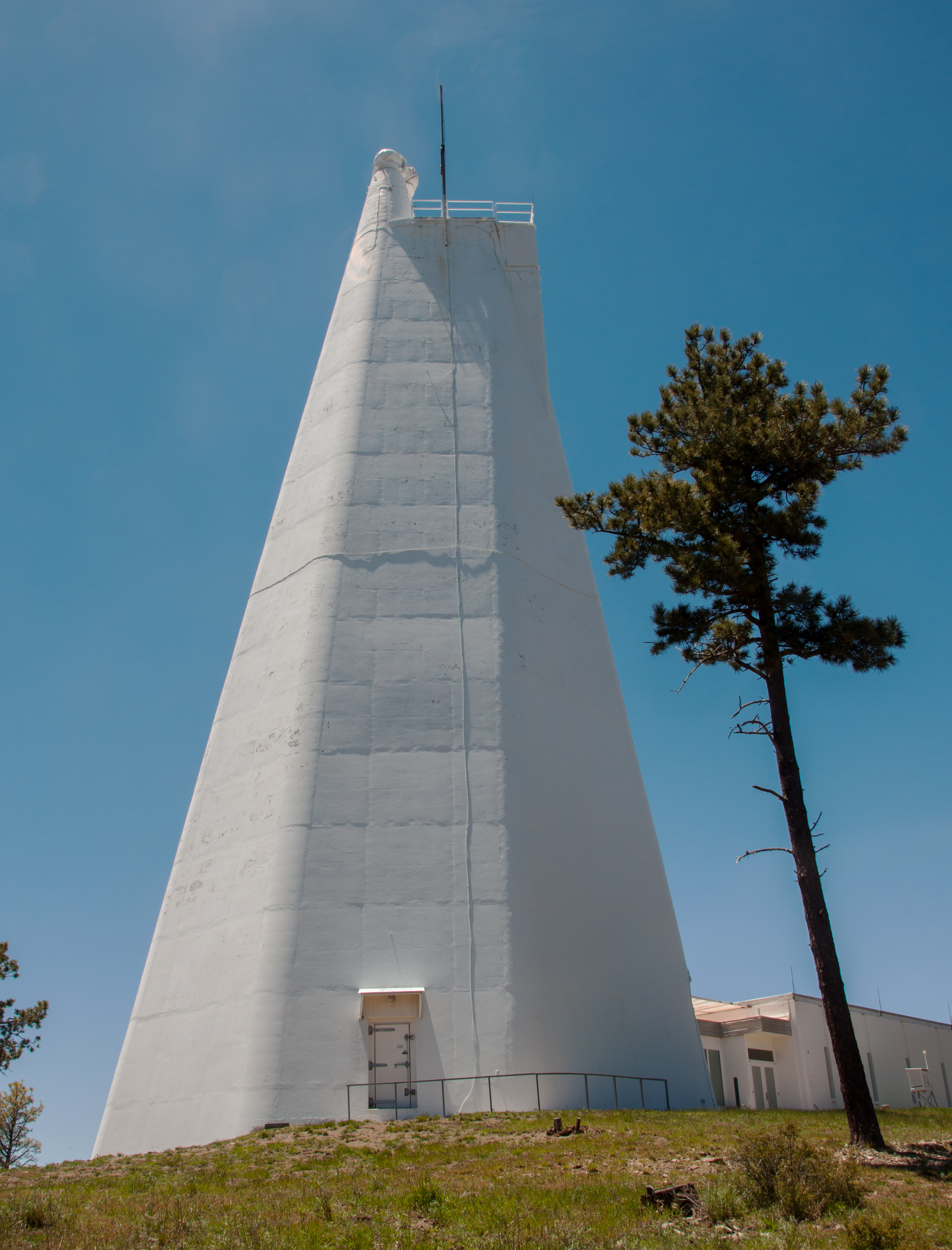 Much of this Richard B. Dunn Solar Telescope found at Sunspot, New Mexico is actually below ground.