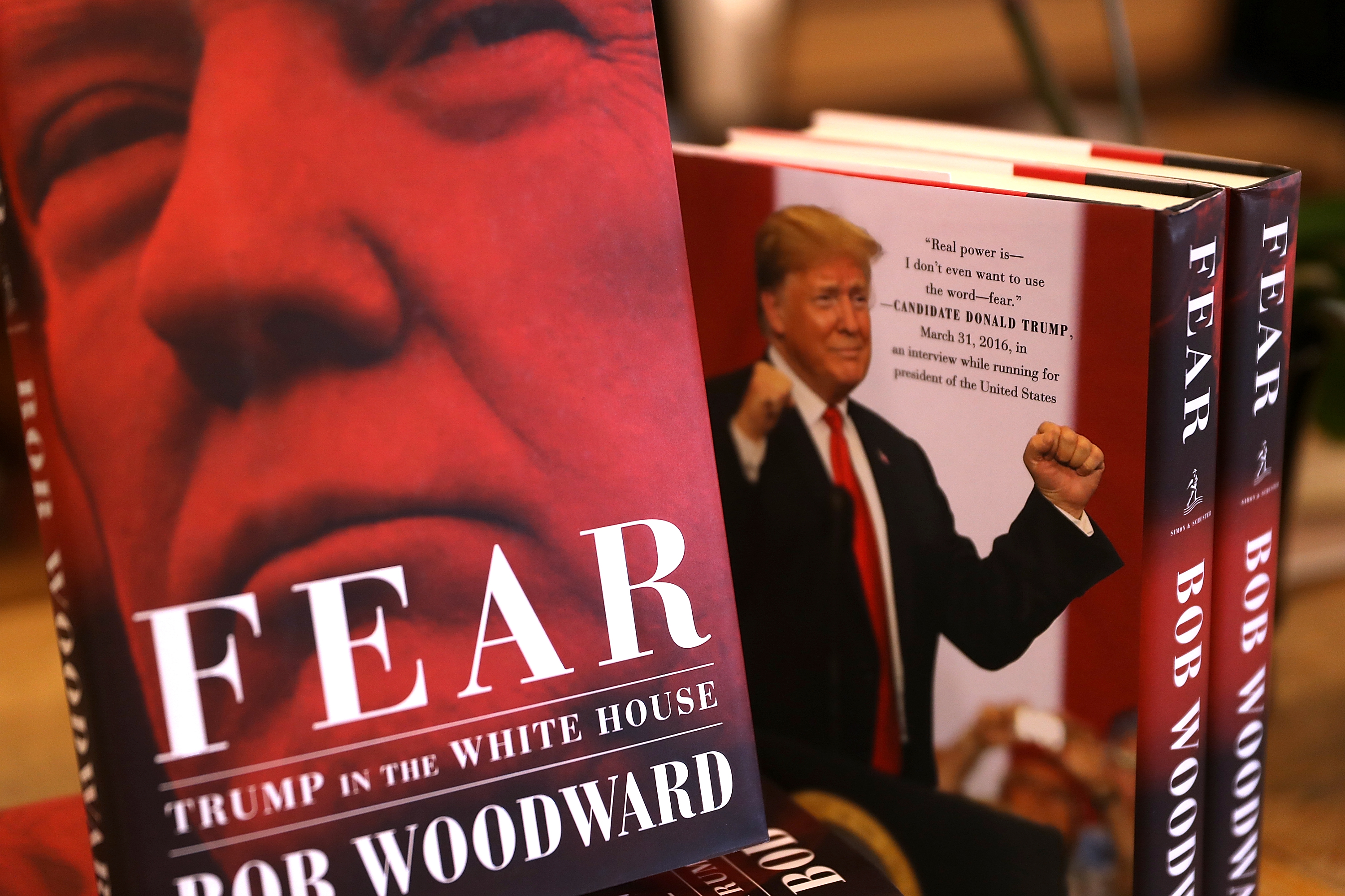 The newly released book  Fear  by Bob Woodward sold more than 750,000 copies in its first day