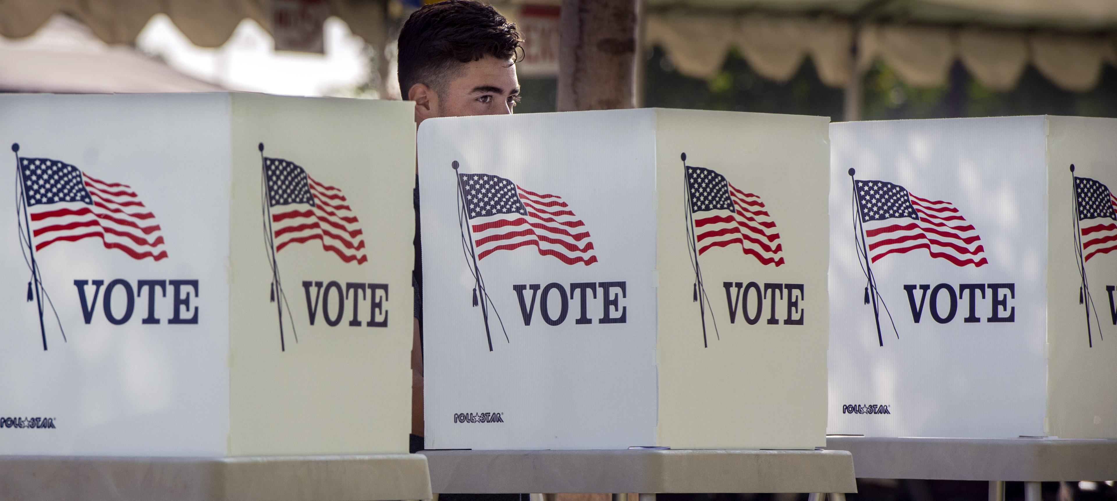 Students take part in the Power California early voting event in Norwalk, Calif., on Oct. 24, 2018. More than 400 students from seven Los Angeles Unified schools registered, organizers said.