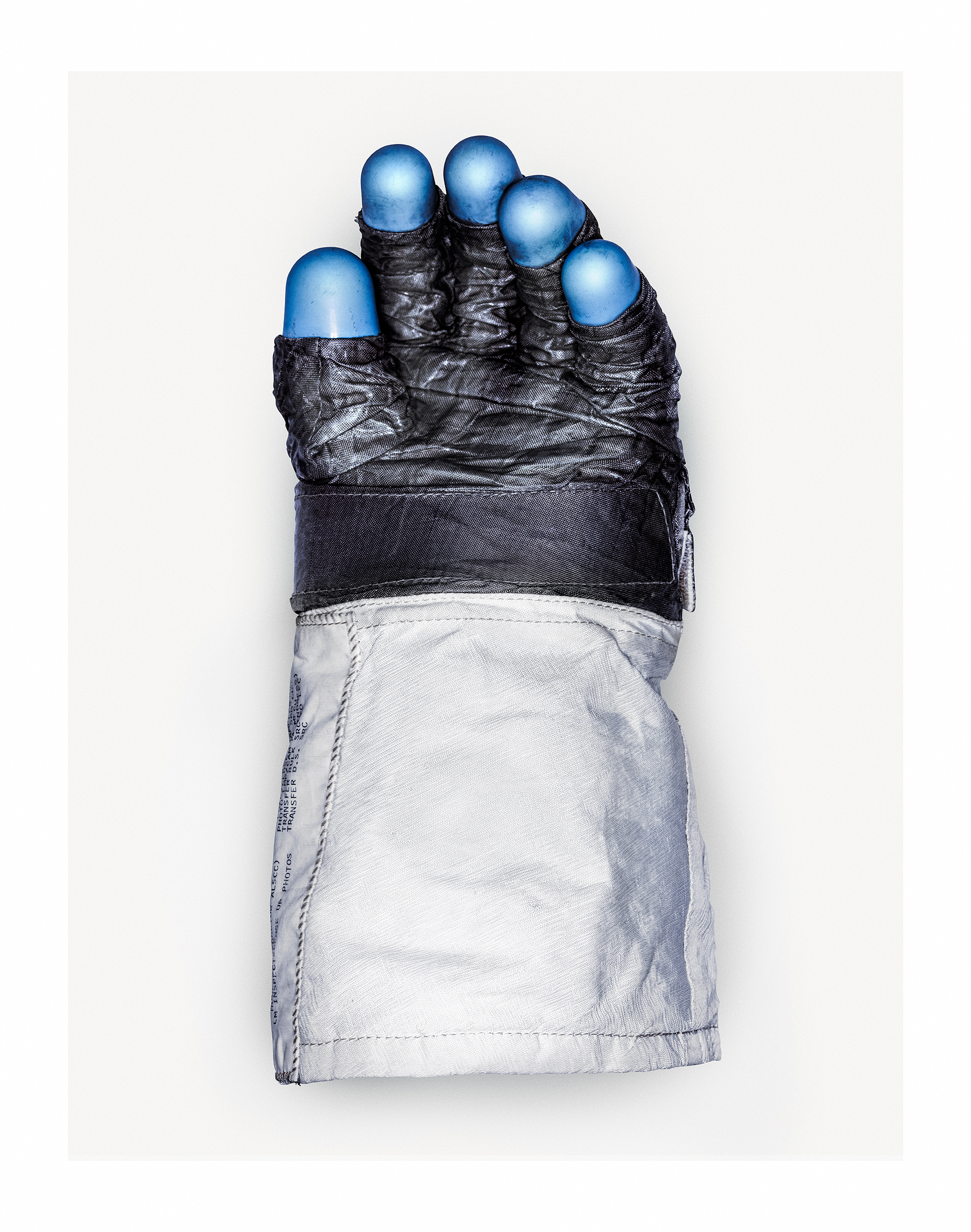 Neil Armstrong's spacesuit glove in the Smithsonian Institution lab where it is being restored