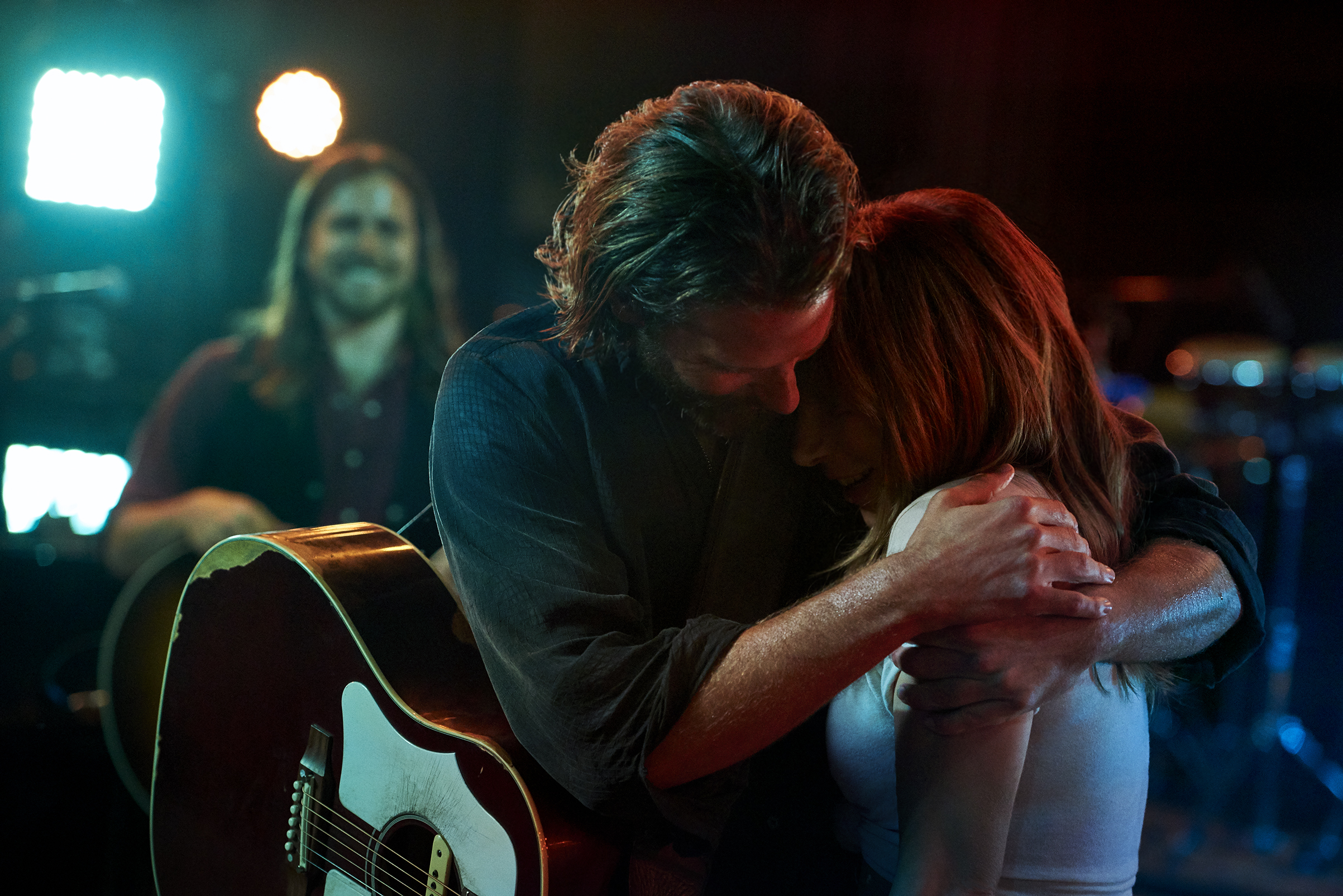 Bradley Cooper and Lady Gaga as Jackson Maine and Ally in  A Star is Born .
