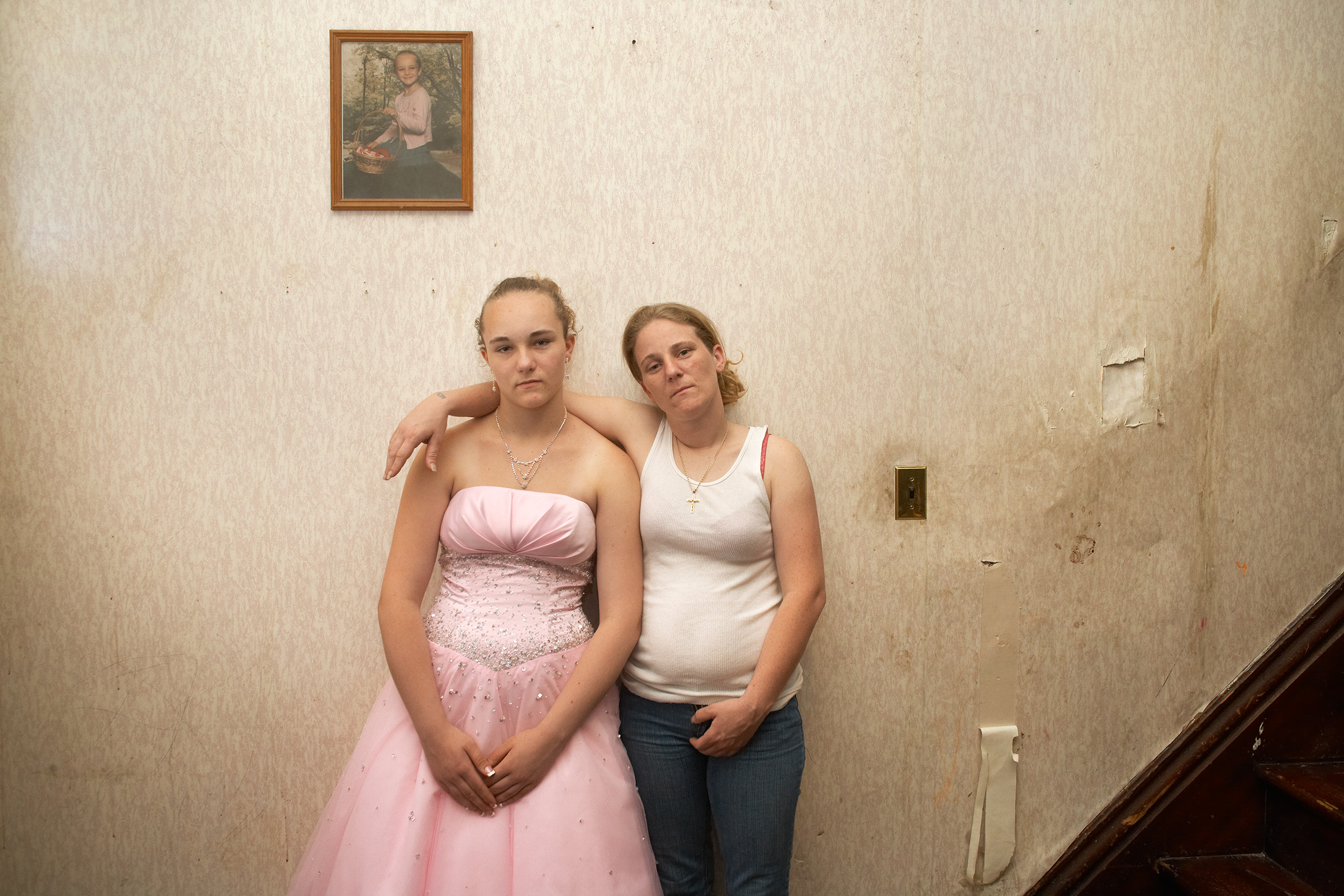 DJ and her oldest daughter, Little Vic, on prom day in June 2009.  DJ's mother, Big Vic, raised Little Vic because DJ was not yet of the legal age when she gave birth,  says Kenneally.