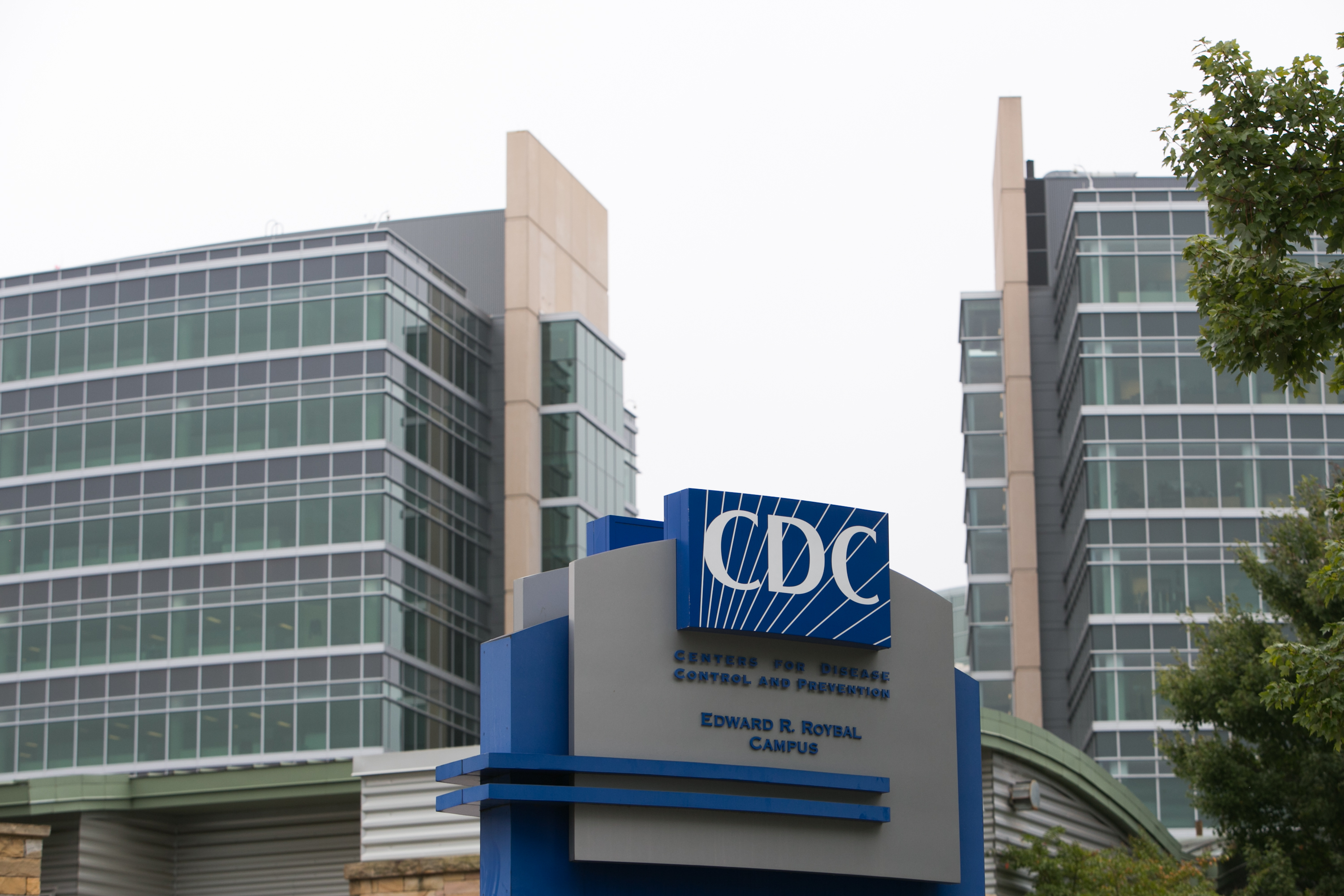 Exterior of CDC headquarters is seen on October 13, 2014 in Atlanta, Georgia.