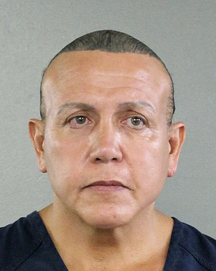 Federal authorities took Cesar Sayoc, 56, of Aventura, Fla., into custody Friday, Oct. 26, 2018 in Florida in connection with the mail-bomb scare that earlier widened to 12 suspicious packages, the FBI and Justice Department said.