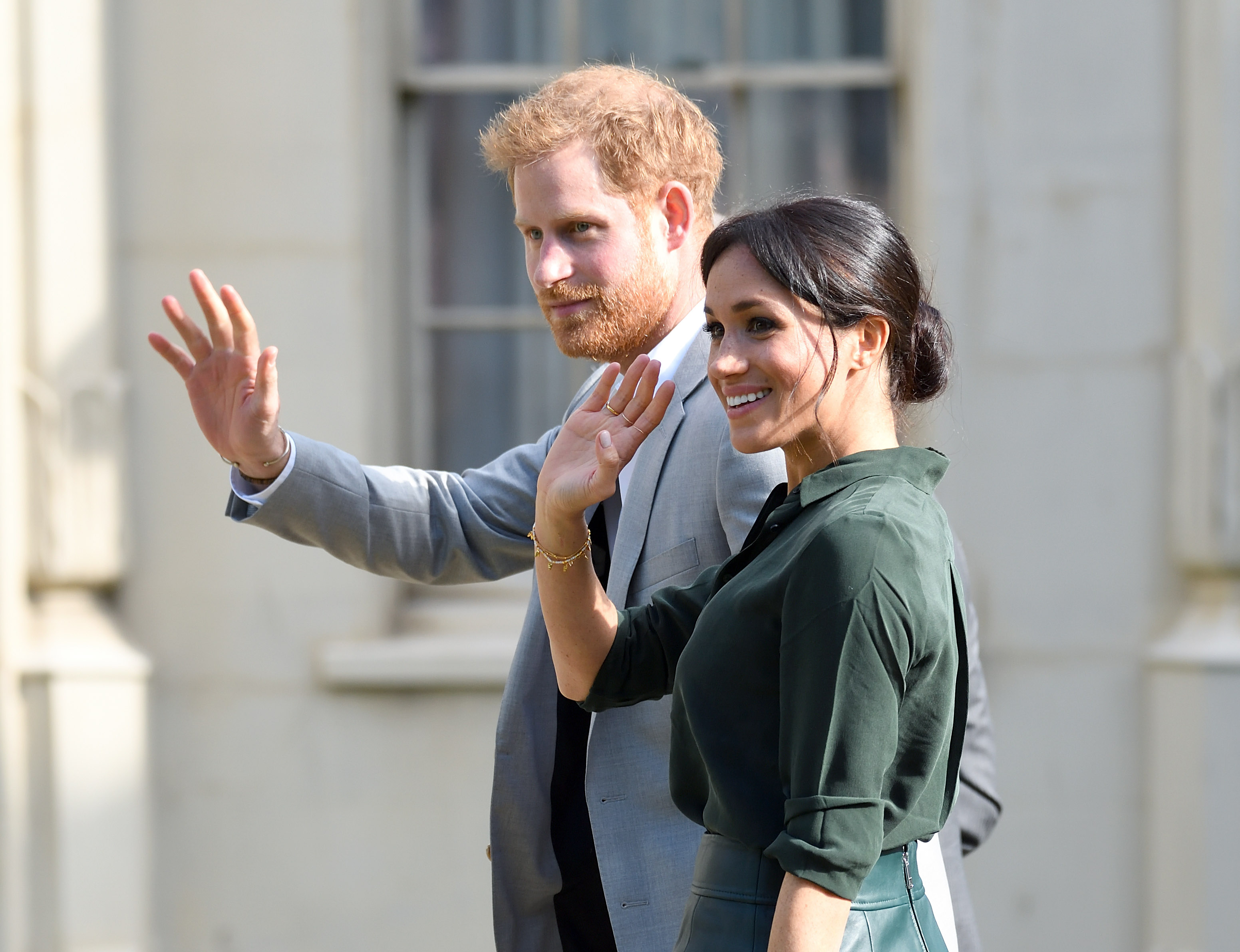 Meghan, Duchess of Sussex and Prince Harry, Duke of Sussex at the Royal Pavilion during an official visit to Sussex on October 3, 2018 in Brighton, United Kingdom.