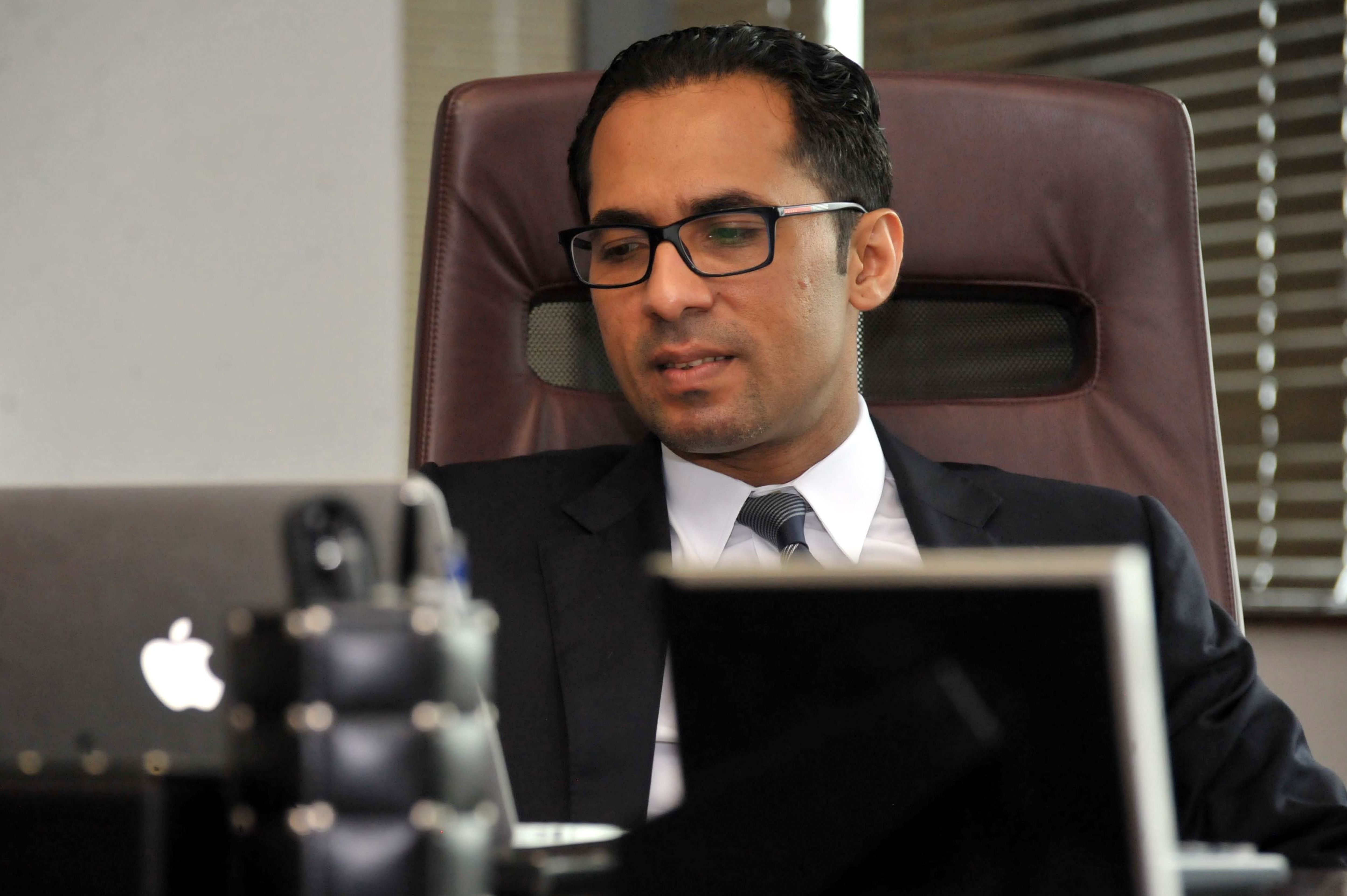 Tanzanian businessman Mohammed Dewji sits in his office in Dar es Salaam, Tanzania on April 23, 2015.