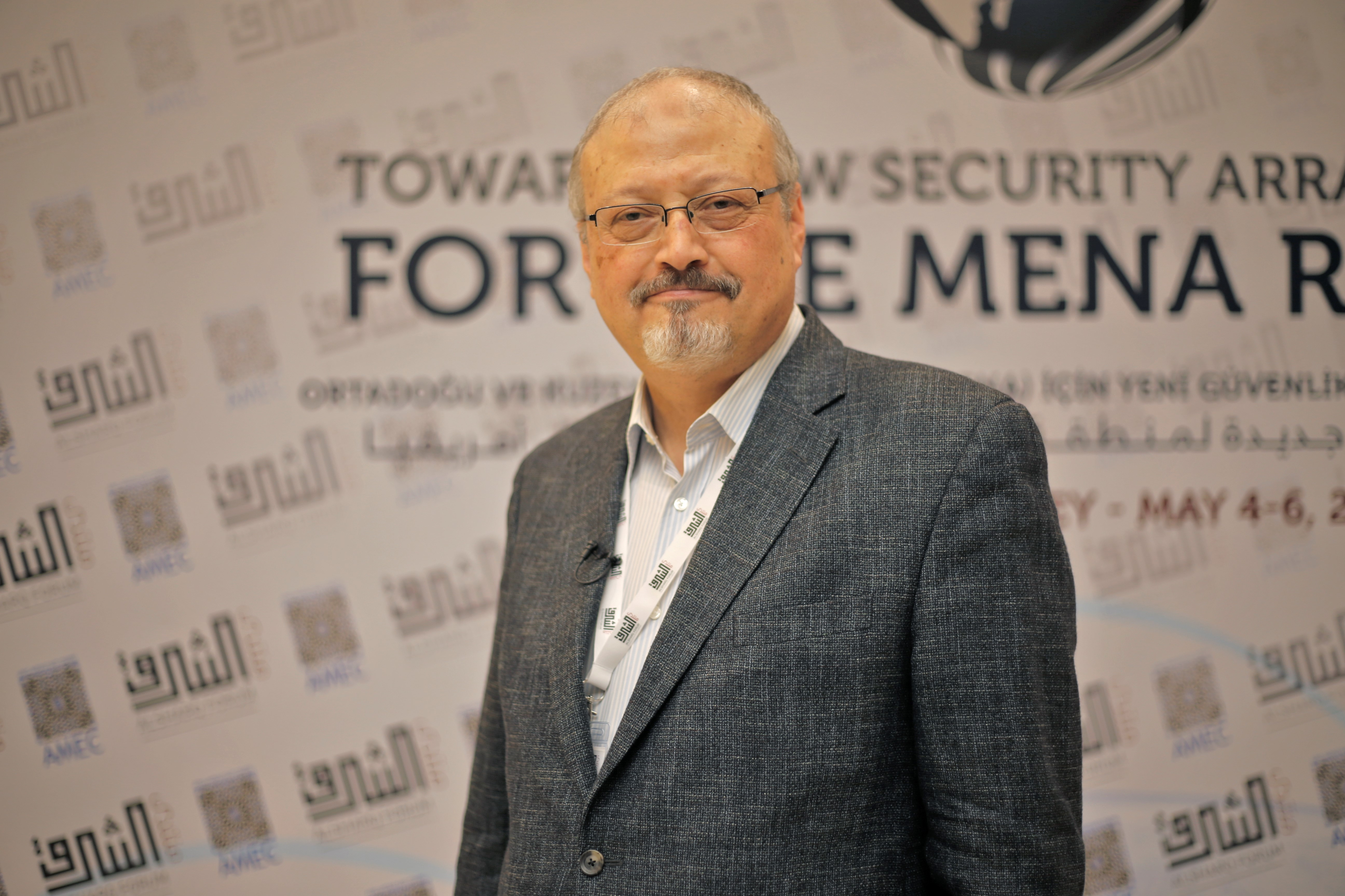 A file photo dated May 6, 2018 shows Prominent Saudi journalist Jamal Khashoggi in Istanbul, Turkey.
