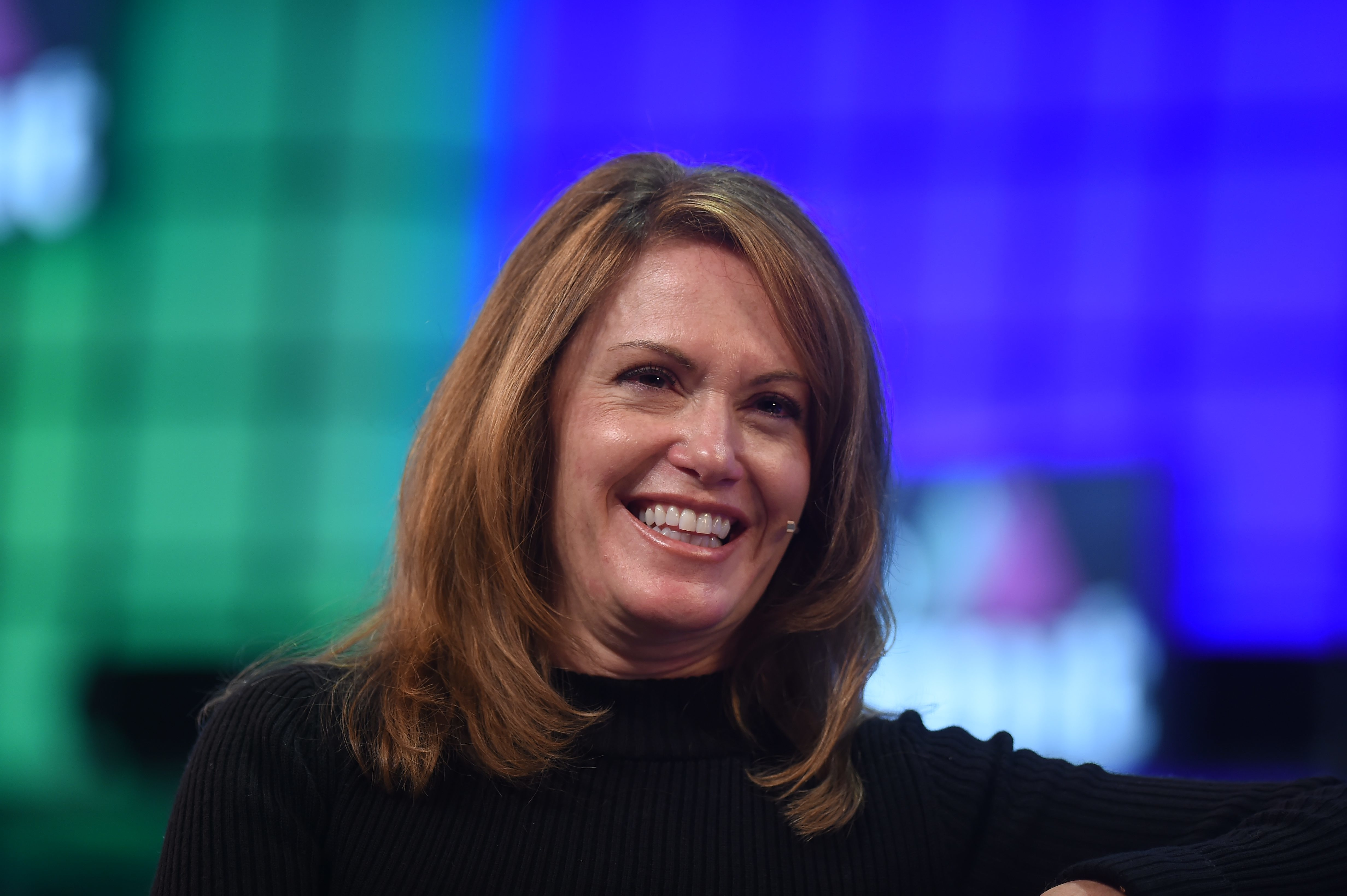3 November 2015; Peggy Johnson, EVP of Business Development, Microsoft, on the Centre Stage during Day 1 of the 2015 Web Summit in the RDS, Dublin, Ireland.