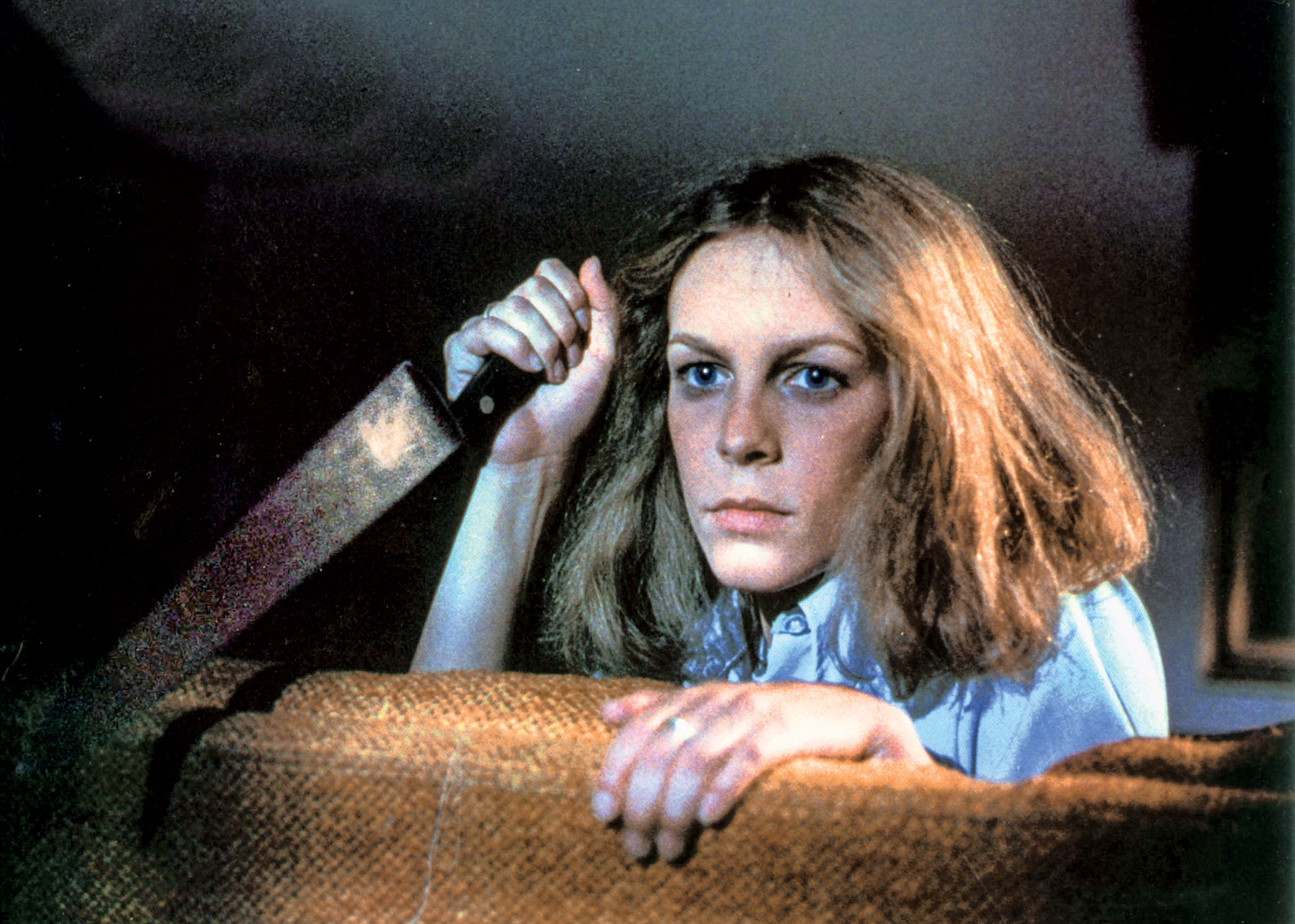 Jamie Lee Curtis as Laurie in  Halloween .