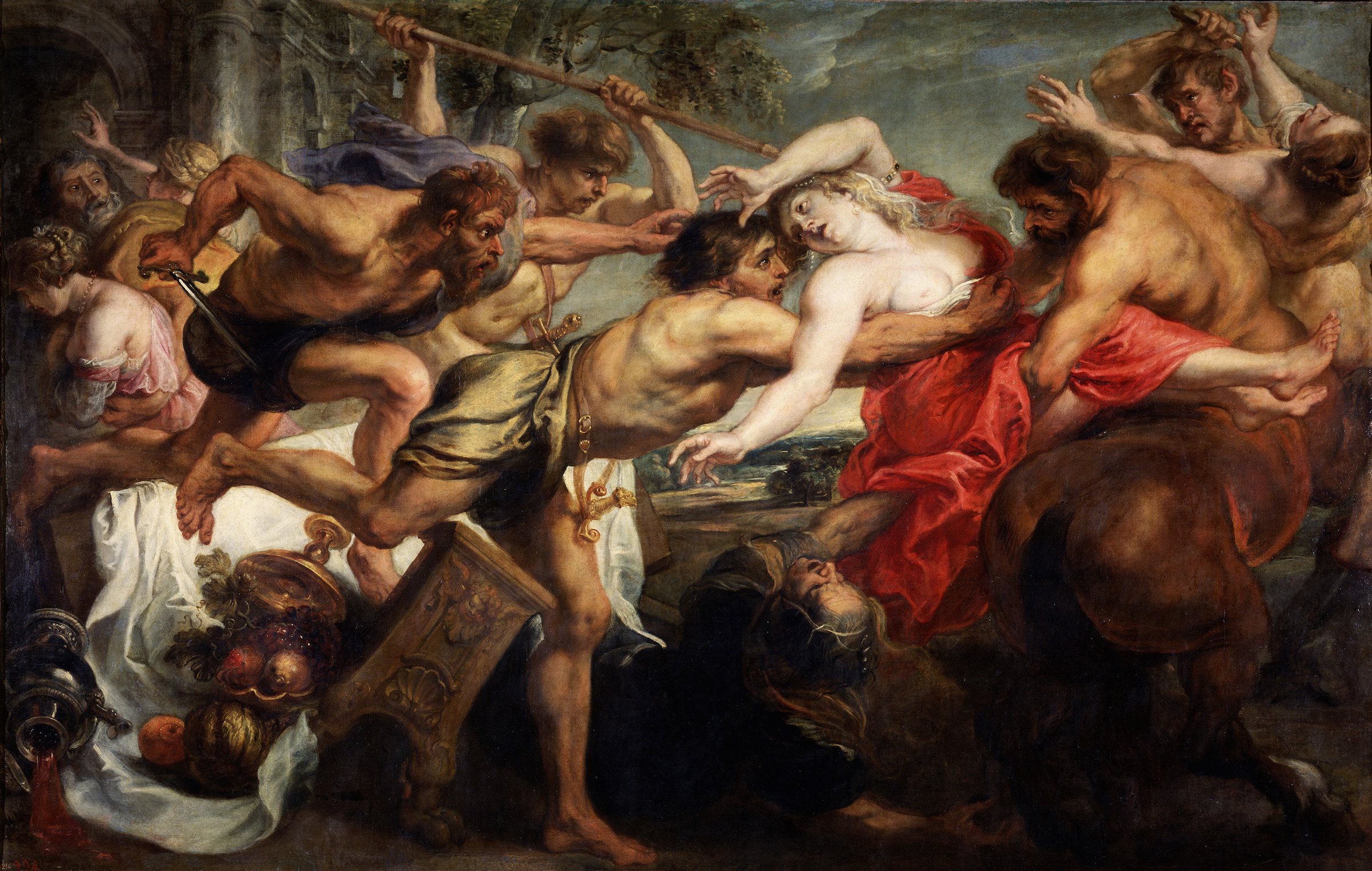 The Abduction of Hippodamia, or Lapiths and Centaurs, 1636-1638, by Pieter Paul Rubens. The story of the battle of the Lapiths and Centaurs is part of Ovid's 'Metamorphoses.'