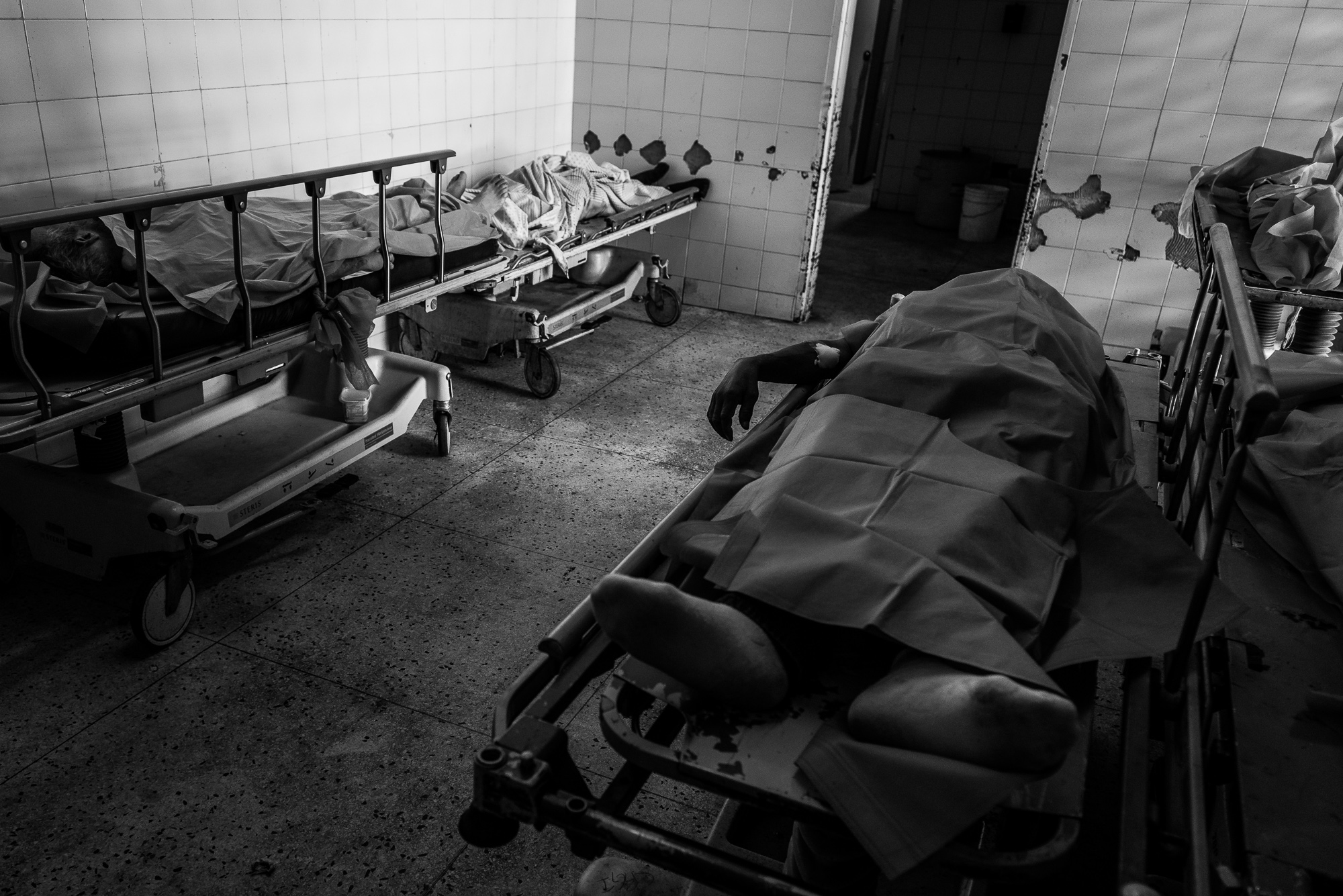 Corpses at the Perez Carreño Hospital morgue. According to the Venezuelan Observatory of Violence, there were over 26,616 homicides in 2017.