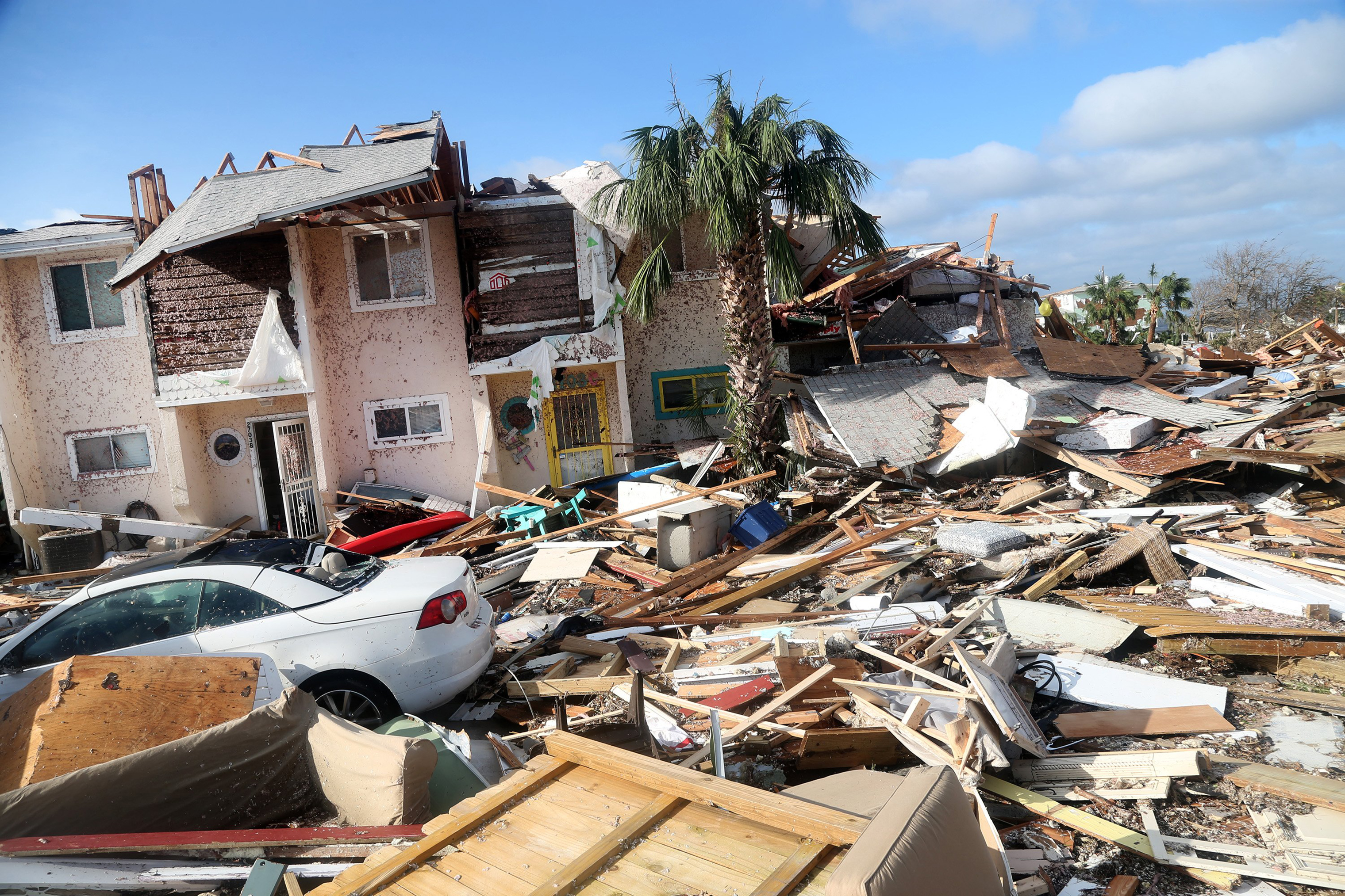 The coastal township of Mexico Beach, lay devastated on Thursday after Hurricane Michael made landfall on Wednesday in the Florida Panhandle.