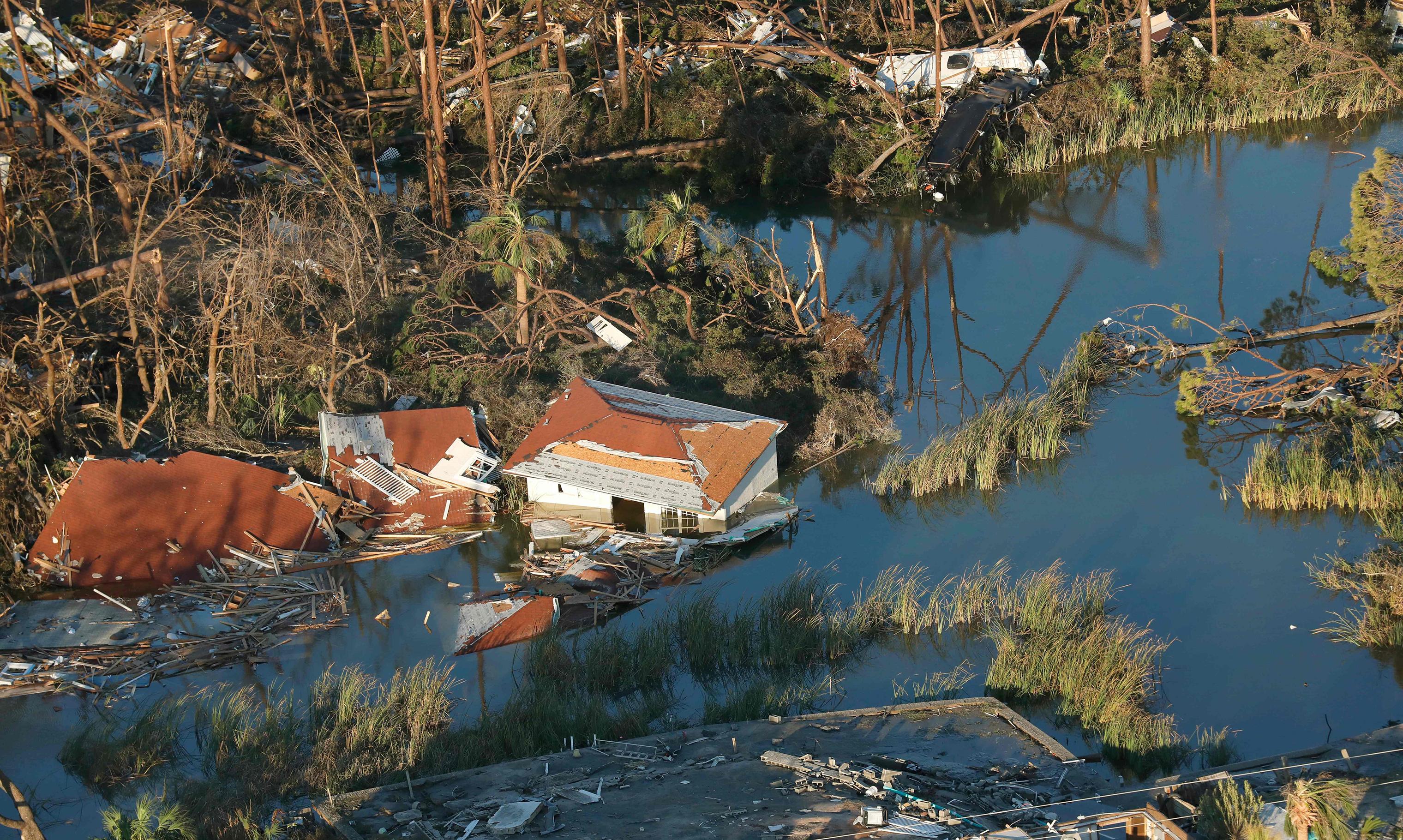 Hurricane Michael left massive destruction across the area near Panama City, Fla., on Oct. 11, 2018.