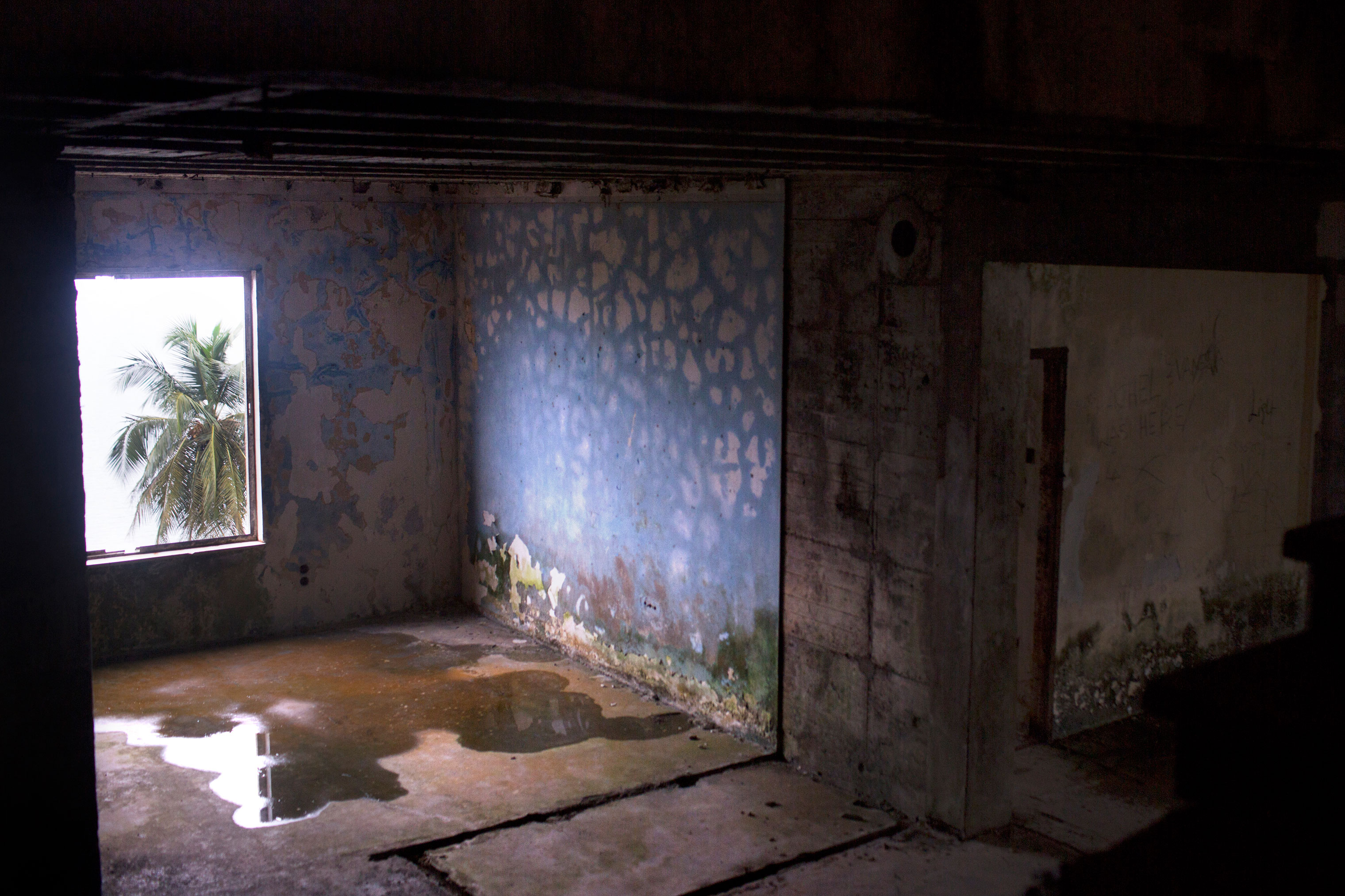 A room in the abandoned Ducor Hotel.