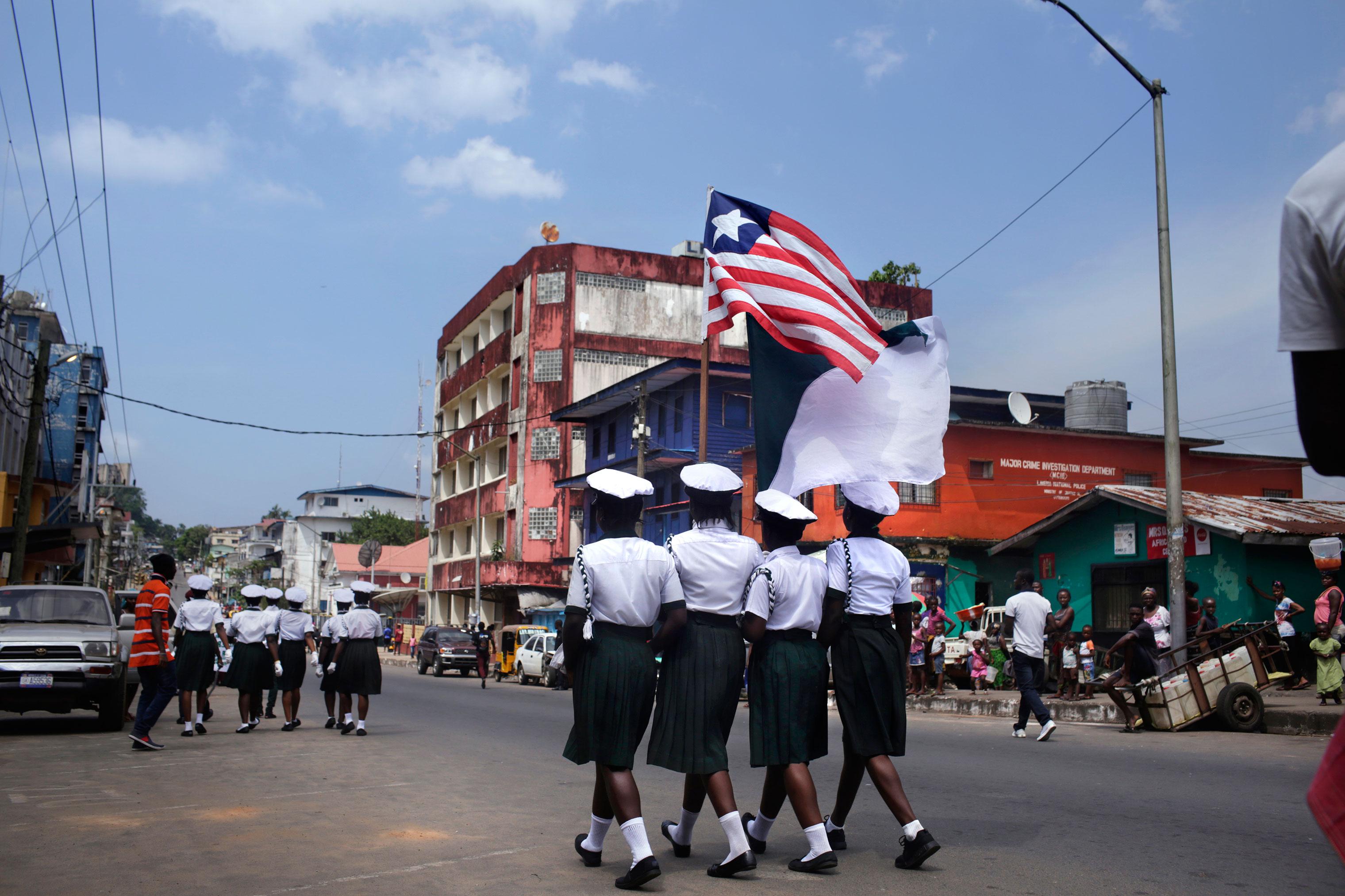 A parade in Monrovia.