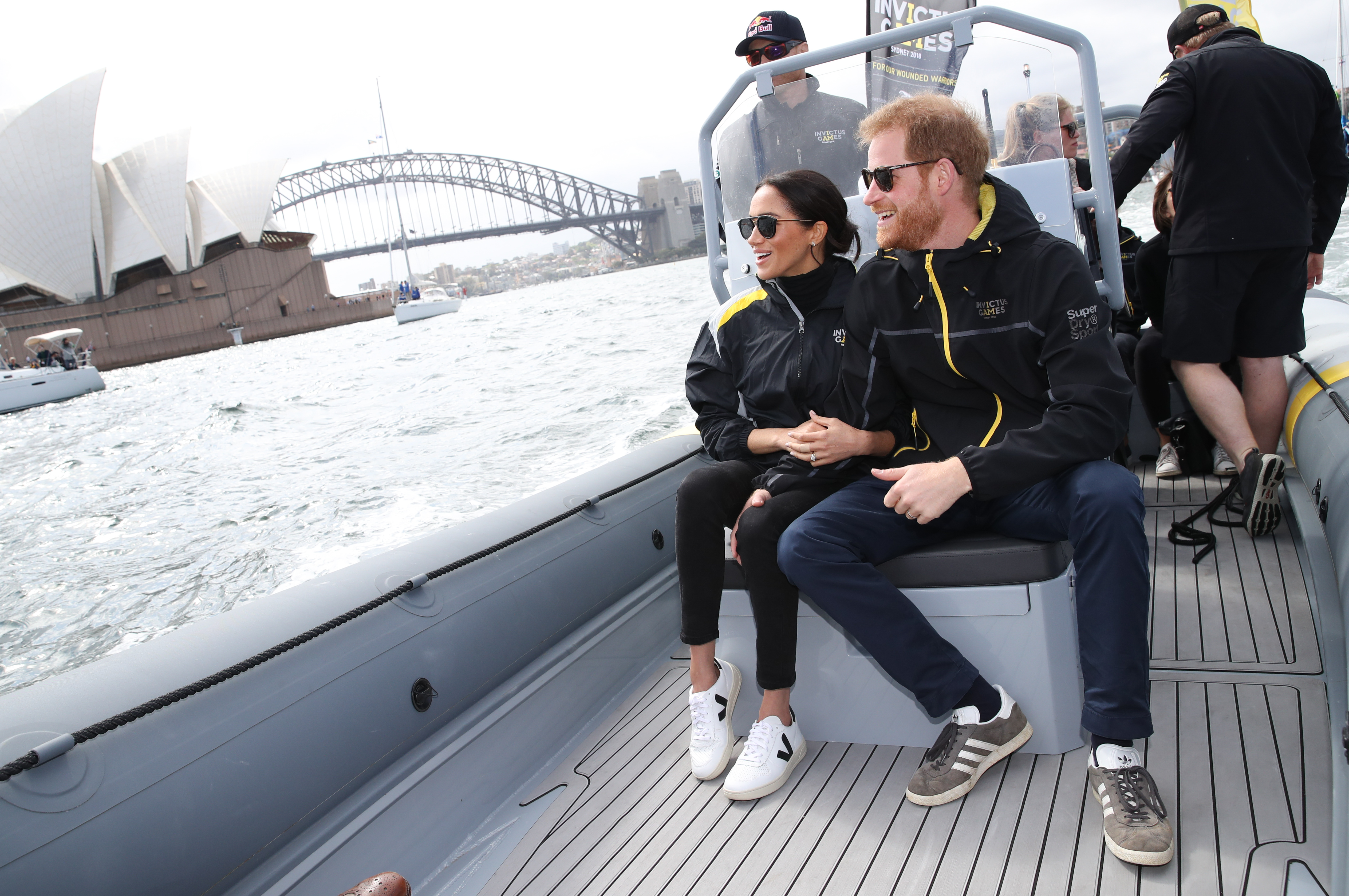 Meghan Markle wears Outland denim and Veja sneakers while in Sydney, Australia. (Chris Jackson/Getty Images)