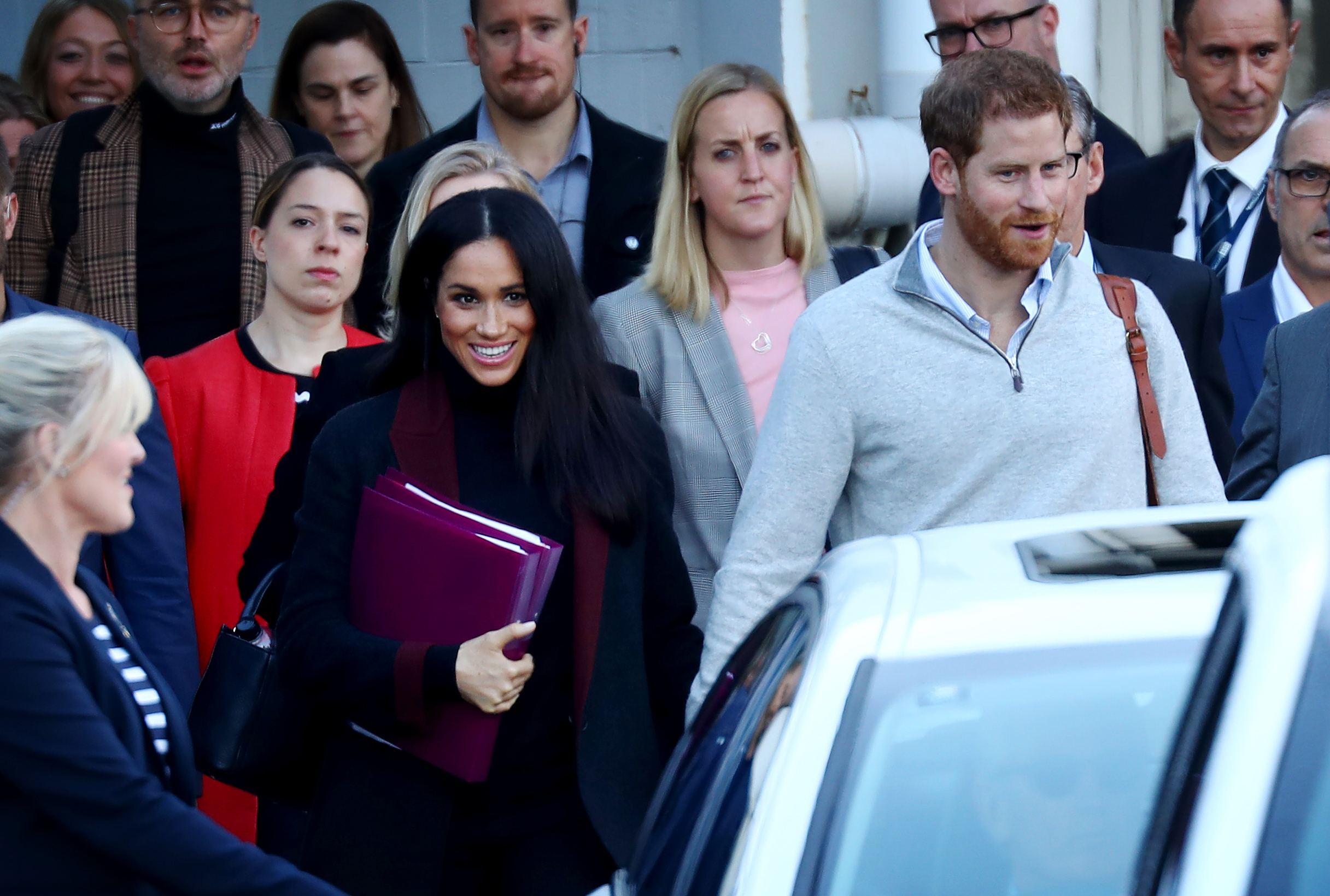 Prince Harry, Duke of Sussex and Meghan, Duchess of Sussex arrive into Sydney International Airport in Sydney on Oct. 15, 2018.