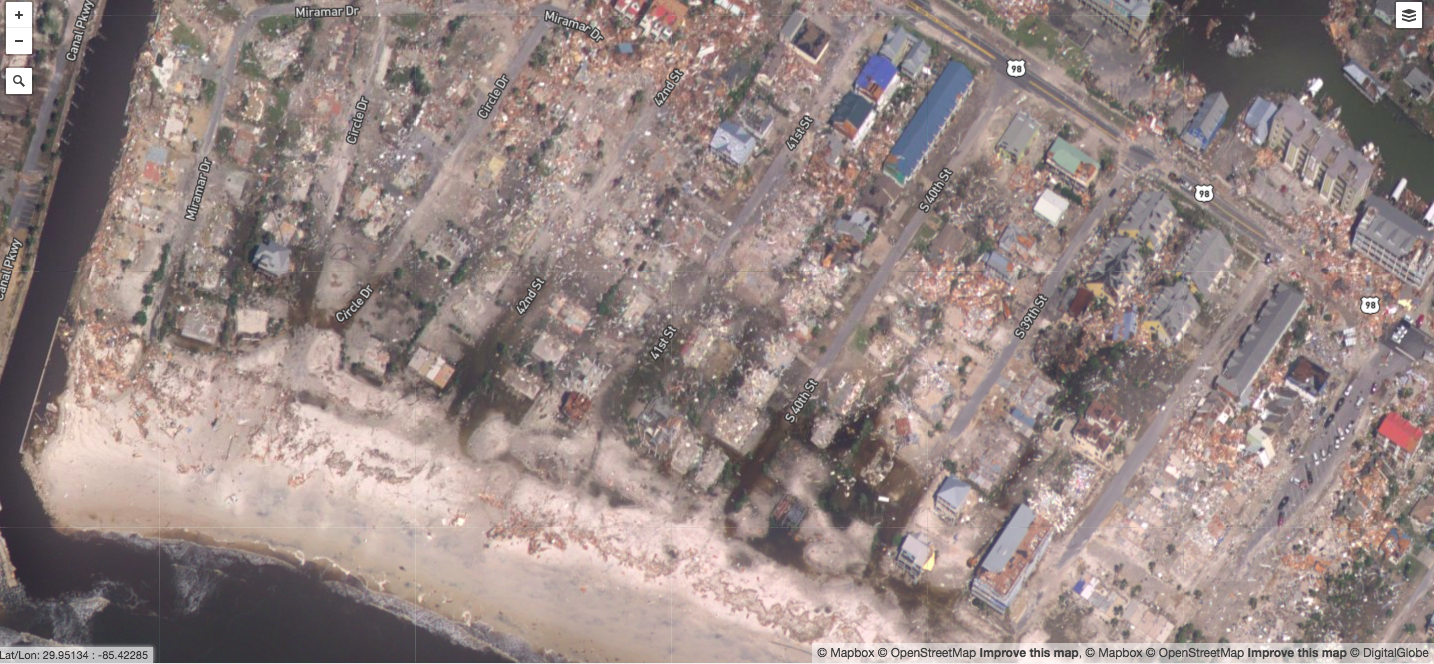 After: Mexico Beach, Fla.- Homes near the coast are destroyed.
