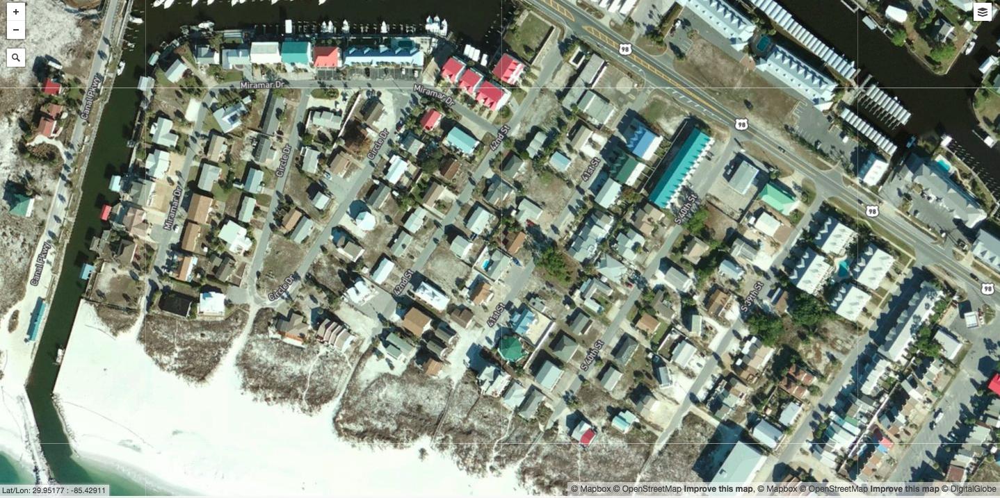 Before: Mexico Beach, Fla.- The coastal community of Mexico Beach.