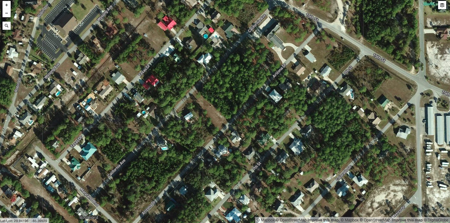 Before: Mexico Beach, Fla.- Residential neighborhoods are lined with trees.