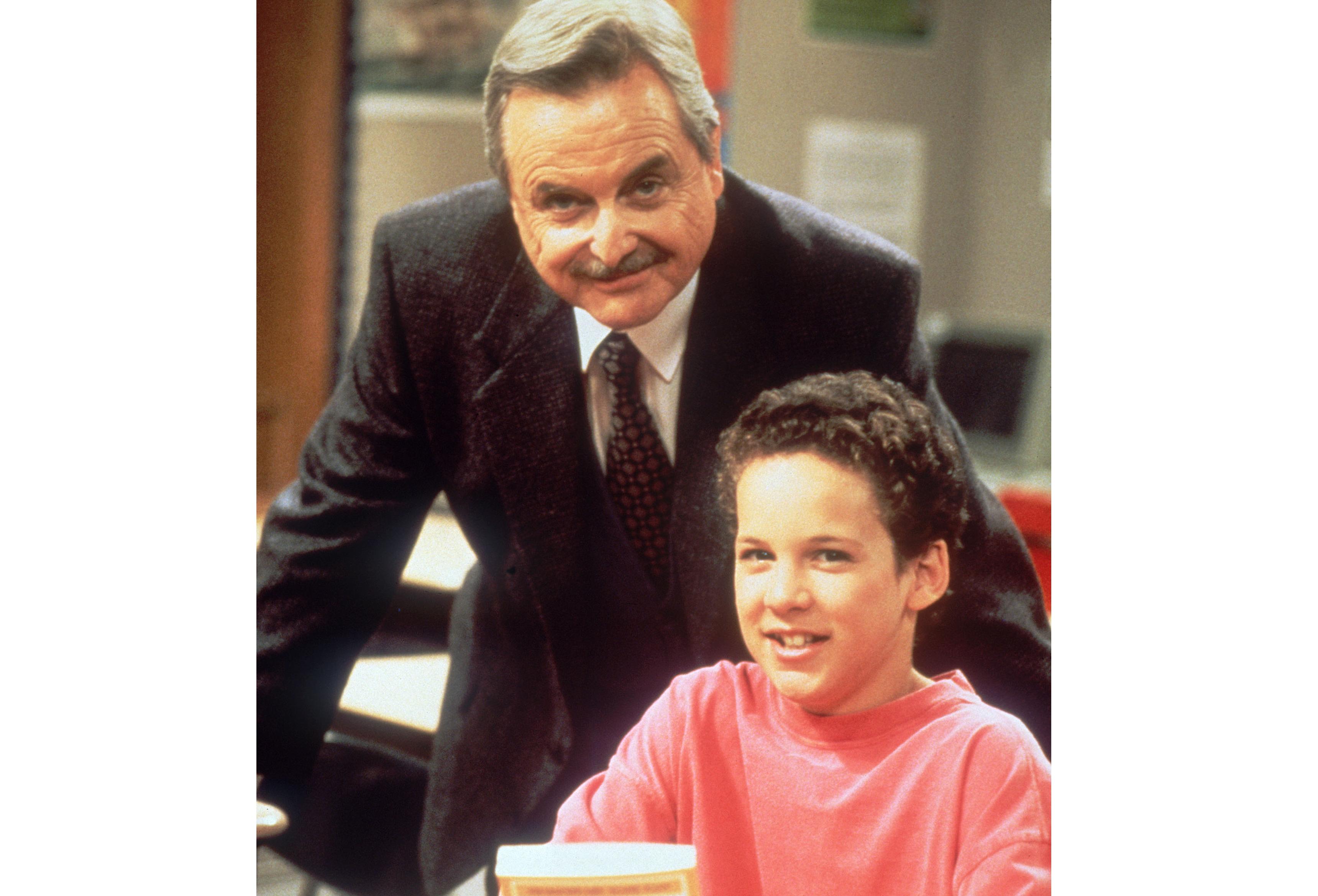 William Daniels and Ben Savage in 'Boy Meets World,' 1993.