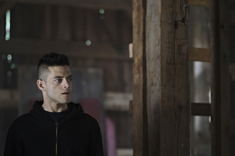 MR. ROBOT --  shutdown -r  Episode 310 -- Pictured: Rami Malek as Elliot Alderson