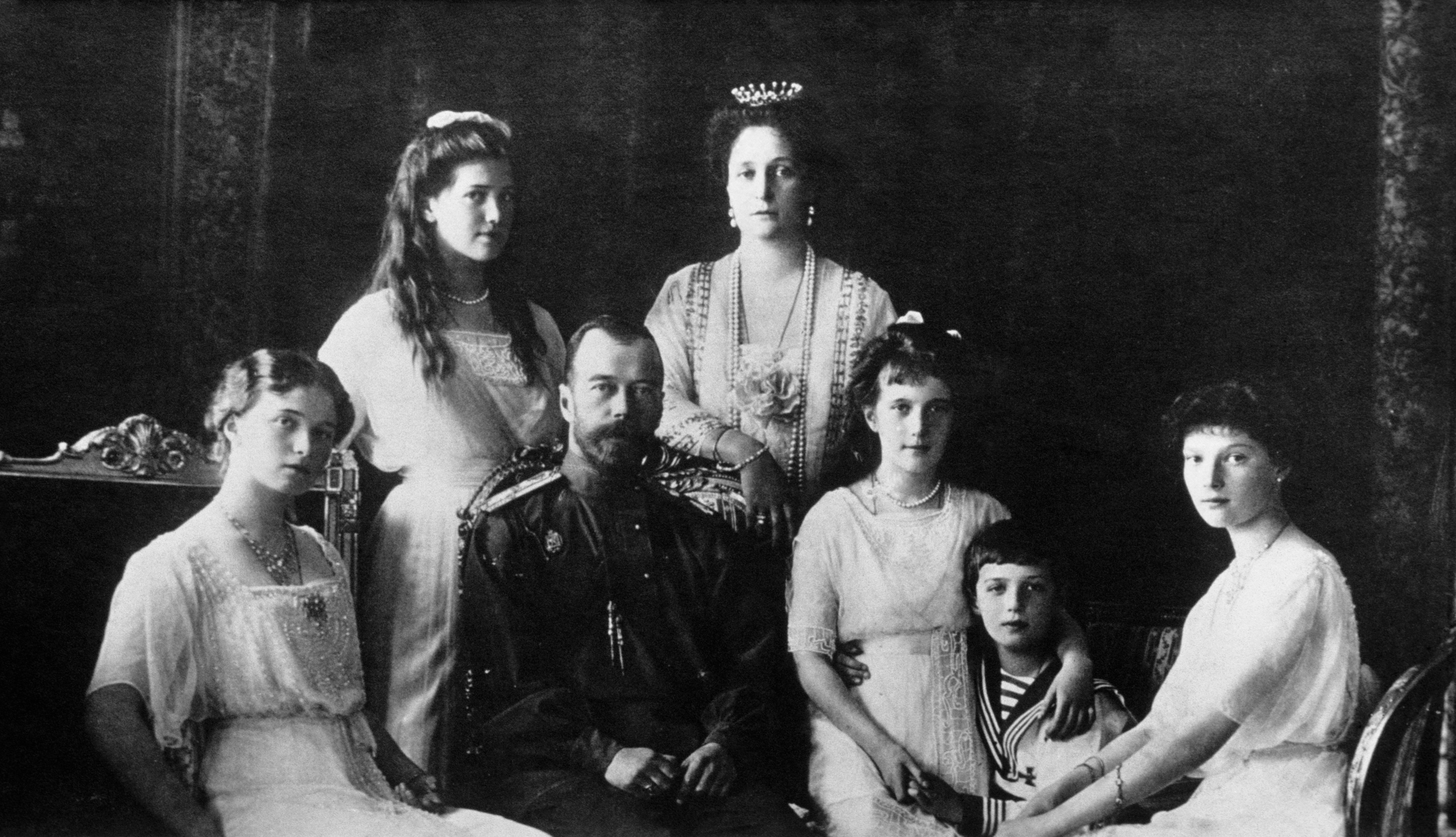 A portrait of the Romanov family in St. Petersburg in  1899