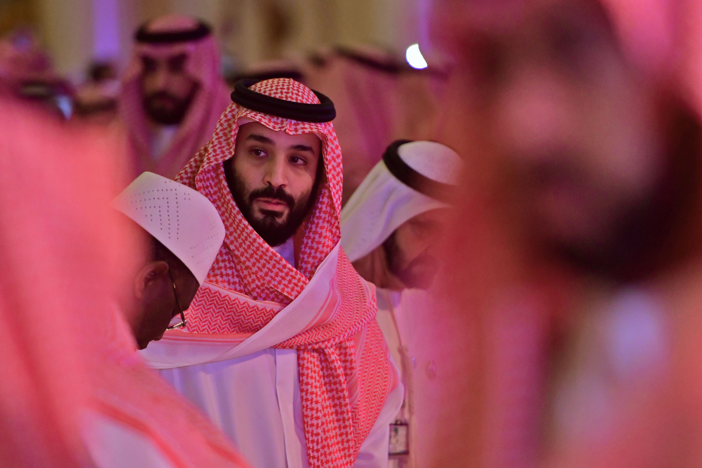 Saudi Crown Prince Mohammed bin Salman arrives at the Future Investment Initiative FII conference in the Saudi capital Riyadh on Oct. 24, 2018.